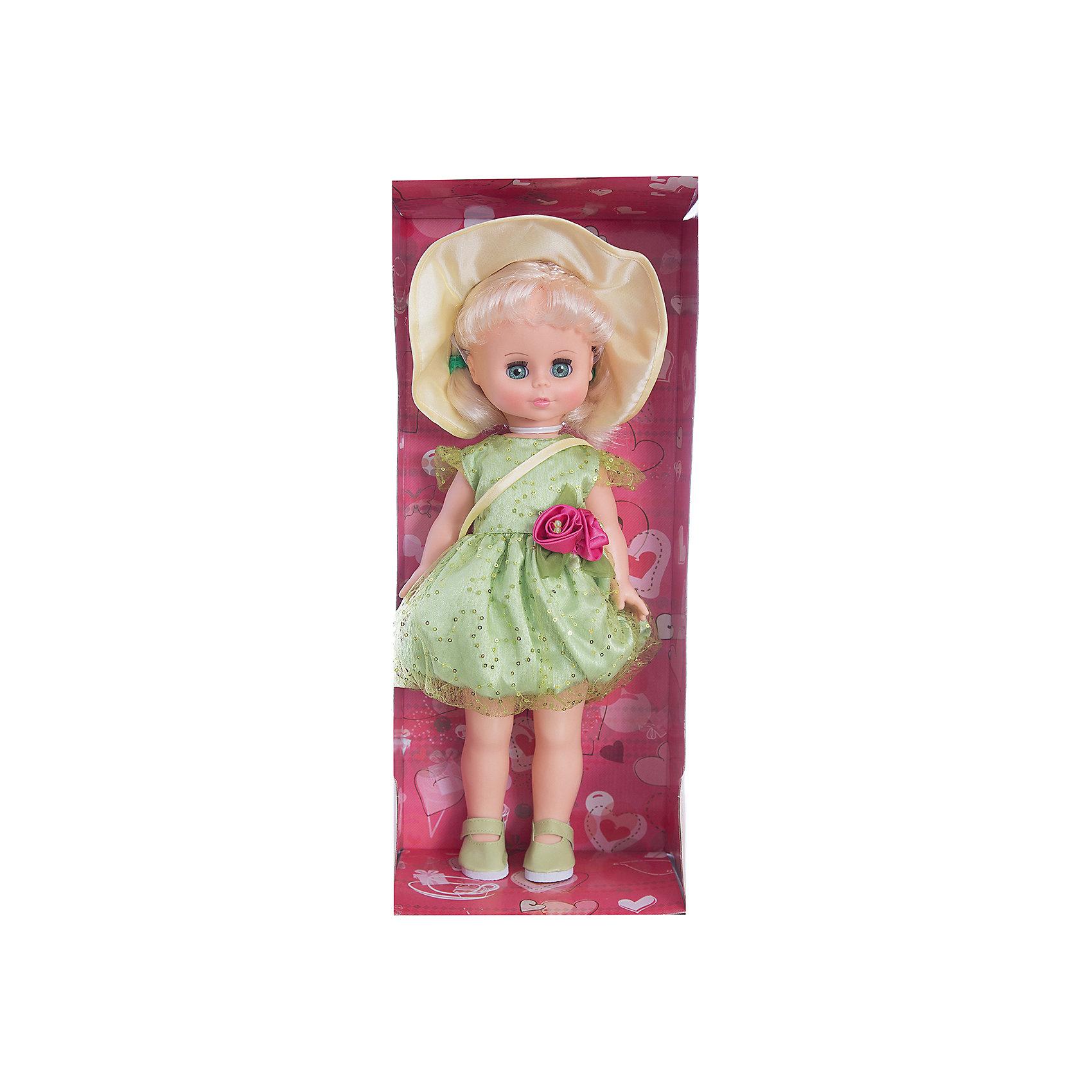 Кукла Оля 11, со звуком, ВеснаКлассические куклы<br>Кукла для девочки - это не только игрушка, с которой можно весело провести время, кукла - это возможность отрабатывать навыки поведения в обществе, учиться заботе о других, делать прически и одеваться согласно моде и поводу.<br>Эта красивая классическая кукла не только эффектно выглядит, она дополнена звуковым модулем! Игрушка модно одета и снабжена аксессуарами. Такая кукла запросто может стать самой любимой игрушкой! Произведена из безопасных для ребенка и качественных материалов.<br><br>Дополнительная информация:<br><br>цвет: разноцветный;<br>материал: пластик, текстиль;<br>комплектация: кукла, одежда, аксессуары;<br>высота: 43 см.<br><br>Куклу Оля 11, со звуком, от компании Весна можно купить в нашем магазине.<br><br>Ширина мм: 440<br>Глубина мм: 240<br>Высота мм: 440<br>Вес г: 750<br>Возраст от месяцев: 36<br>Возраст до месяцев: 120<br>Пол: Женский<br>Возраст: Детский<br>SKU: 4642026