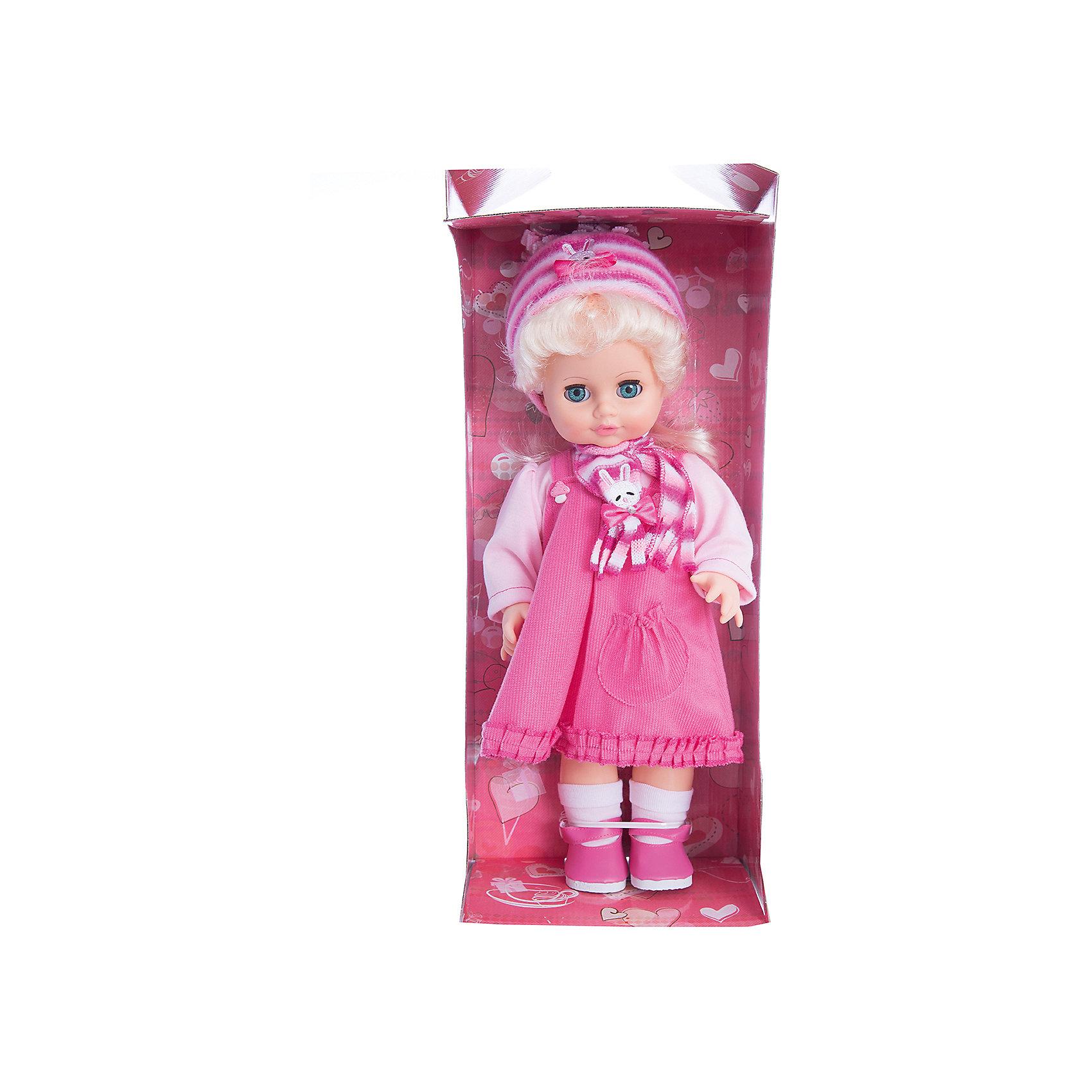Кукла Инна 46, со звуком, ВеснаБренды кукол<br>Кукла для девочки - это не только игрушка, с которой можно весело провести время, кукла - это возможность отрабатывать навыки поведения в обществе, учиться заботе о других, делать прически и одеваться согласно моде и поводу.<br>Эта красивая классическая кукла не только эффектно выглядит, она дополнена звуковым модулем! Игрушка модно одета и снабжена аксессуарами. Такая кукла запросто может стать самой любимой игрушкой! Произведена из безопасных для ребенка и качественных материалов.<br><br>Дополнительная информация:<br><br>цвет: разноцветный;<br>материал: пластик, текстиль;<br>комплектация: кукла, одежда, аксессуары;<br>высота: 43 см.<br><br>Куклу Инна 46 со звуком от компании Весна можно купить в нашем магазине.<br><br>Ширина мм: 430<br>Глубина мм: 240<br>Высота мм: 430<br>Вес г: 810<br>Возраст от месяцев: 36<br>Возраст до месяцев: 120<br>Пол: Женский<br>Возраст: Детский<br>SKU: 4642030
