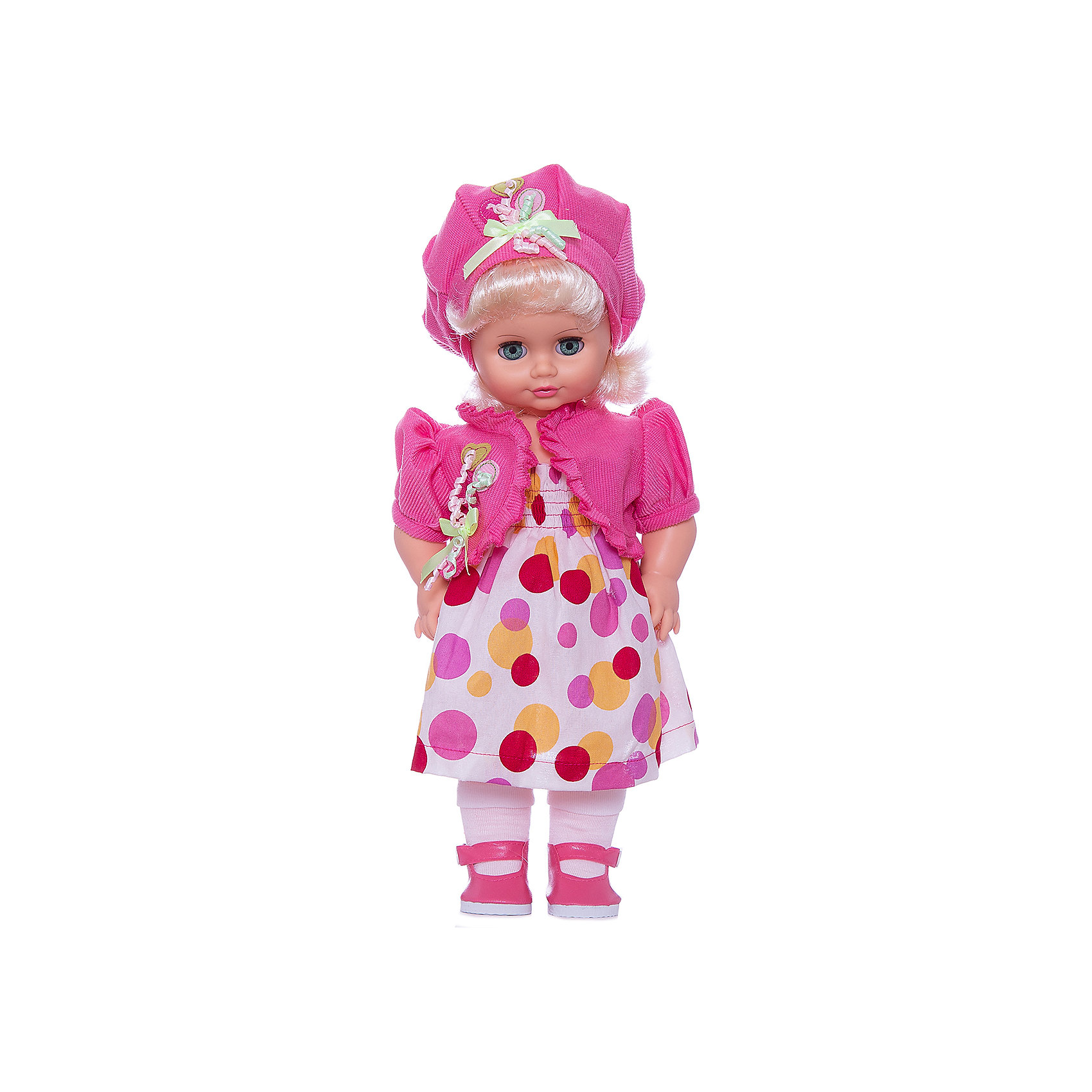 Кукла Инна 47, со звуком, ВеснаБренды кукол<br>Кукла для девочки - это не только игрушка, с которой можно весело провести время, кукла - это возможность отрабатывать навыки поведения в обществе, учиться заботе о других, делать прически и одеваться согласно моде и поводу.<br>Эта красивая классическая кукла не только эффектно выглядит, она дополнена звуковым модулем! Игрушка модно одета и снабжена аксессуарами. Такая кукла запросто может стать самой любимой игрушкой! Произведена из безопасных для ребенка и качественных материалов.<br><br>Дополнительная информация:<br><br>цвет: разноцветный;<br>материал: пластик, текстиль;<br>комплектация: кукла, одежда, аксессуары;<br>высота: 43 см.<br><br>Куклу Инна 47 со звуком от компании Весна можно купить в нашем магазине.<br><br>Ширина мм: 430<br>Глубина мм: 240<br>Высота мм: 430<br>Вес г: 810<br>Возраст от месяцев: 36<br>Возраст до месяцев: 120<br>Пол: Женский<br>Возраст: Детский<br>SKU: 4642031