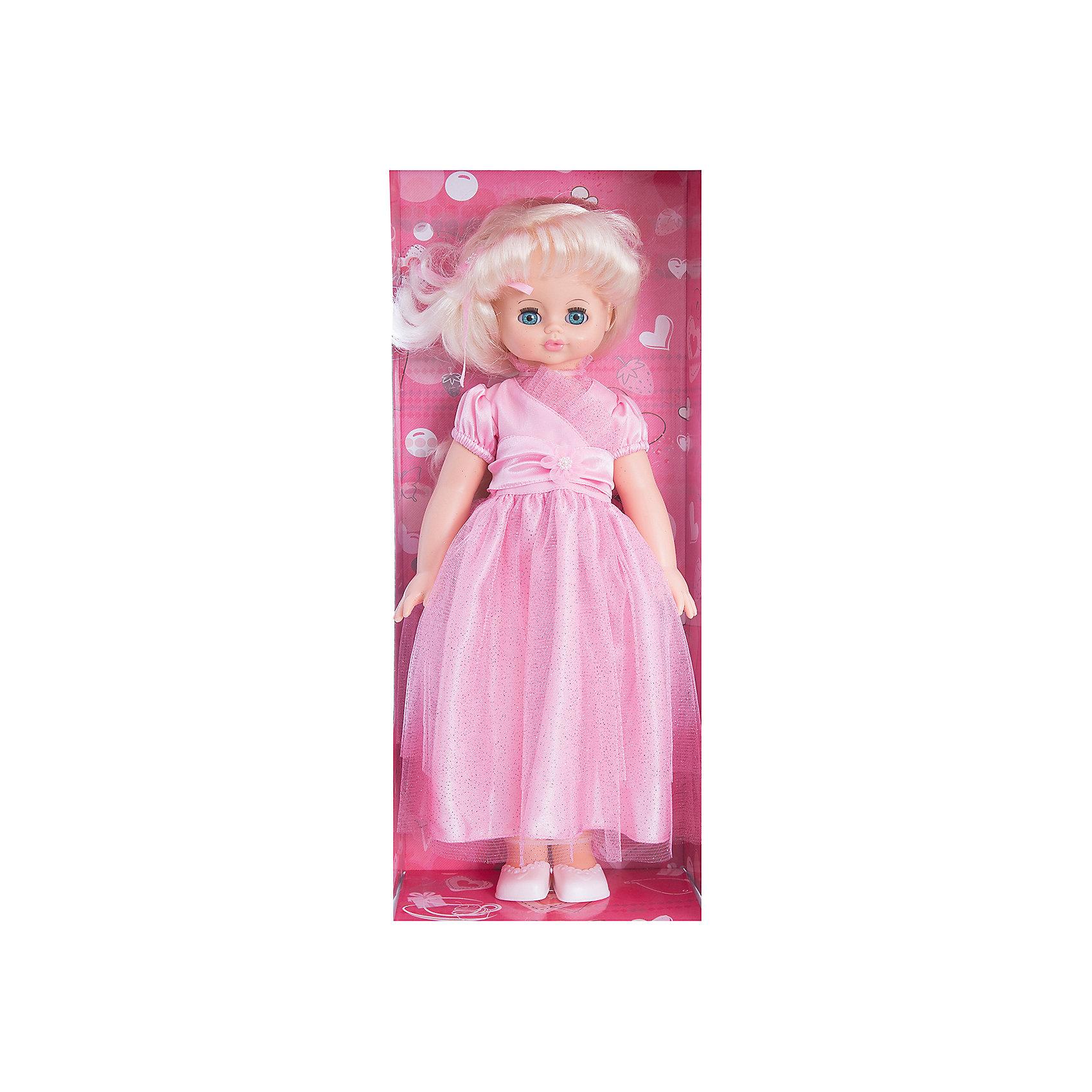 Кукла Алиса 17, со звуком, ВеснаБренды кукол<br>Какая девочка не любит кукол?! Кукла для девочки - это не только игрушка, с которой можно весело провести время, кукла - это возможность отрабатывать навыки поведения в обществе, учиться заботе о других, делать прически и одеваться согласно моде и поводу.<br>Эта красивая классическая кукла не только эффектно выглядит, она дополнена звуковым модулем! Игрушка модно одета и снабжена аксессуарами. Такая кукла запросто может стать самой любимой игрушкой! Произведена из безопасных для ребенка и качественных материалов.<br><br>Дополнительная информация:<br><br>цвет: разноцветный;<br>материал: пластик, текстиль;<br>комплектация: кукла, одежда;<br>высота: 55 см.<br><br>Куклу Алиса 17, со звуком, от компании Весна можно купить в нашем магазине.<br><br>Ширина мм: 590<br>Глубина мм: 240<br>Высота мм: 150<br>Вес г: 730<br>Возраст от месяцев: 36<br>Возраст до месяцев: 120<br>Пол: Женский<br>Возраст: Детский<br>SKU: 4642033