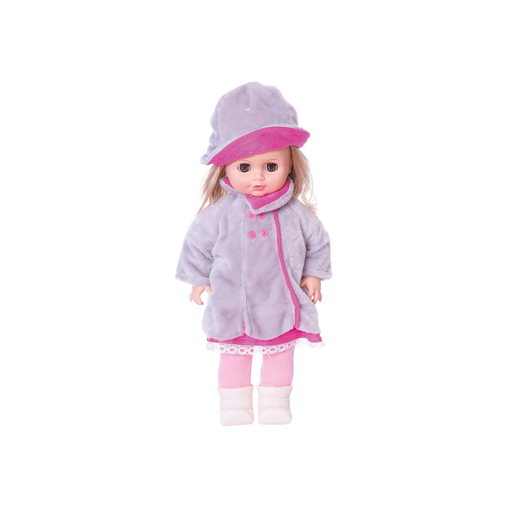 Кукла Инна 13, со звуком, ВеснаКакая девочка не любит кукол?! Кукла для девочки - это не только игрушка, с которой можно весело провести время, кукла - это возможность отрабатывать навыки поведения в обществе, учиться заботе о других, делать прически и одеваться согласно моде и поводу.<br>Эта красивая классическая кукла не только эффектно выглядит, она дополнена звуковым модулем! Игрушка модно одета и снабжена аксессуарами. Такая кукла запросто может стать самой любимой игрушкой! Произведена из безопасных для ребенка и качественных материалов.<br><br>Дополнительная информация:<br><br>цвет: разноцветный;<br>материал: пластик, текстиль;<br>комплектация: кукла, одежда, аксессуары;<br>высота: 43 см.<br><br>Куклу Инна 13, со звуком, от компании Весна можно купить в нашем магазине.<br><br>Ширина мм: 490<br>Глубина мм: 210<br>Высота мм: 130<br>Вес г: 580<br>Возраст от месяцев: 36<br>Возраст до месяцев: 120<br>Пол: Женский<br>Возраст: Детский<br>SKU: 4642034