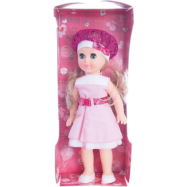 Кукла Алла 13, ВеснаКуклы<br>Характеристики:<br><br>• тип игрушки: кукла;<br>• комплектация: кукла, берет, платье, ботиночки;<br>• возраст: от 3 лет;<br>• размер: 35 см;<br>• бренд: Весна<br>• производство: Россия;<br>• упаковка: картонная коробка блистерного типа<br>• материал: пластик, винил, нейлон.<br><br>Кукла по имени Алла 13 от российского производителя Весна – это очень миловидный малыш, который станет для ребенка не только любимой куклой, но и интересным спутником для интересных ролевых игр. Кукла выполнена в очень реалистичном стиле, по этому ребенок будет о ней заботится и ухаживать с радостью и вниманием.<br>Куколка изготовлена из качественных и гипоаллергенных материалов. Ее голова и руки выполнены из винила, а ноги и тело из пластика. Рост куклы 35 см. Алла выглядит очень привлекательно и стильно: на ней одето ярко-розовое платьице с пояском и пуговичками. Голову куклы украшает изящный кружевной беретик в тон с декоративным бантиком. На ее ножках светлые балетки.<br><br>Лицо и руки куклы выглядят очень реалистично за счет тщательной проработки мелких деталей. Волосы куклы выполнены из нейлона в светло-русом цвете, их можно при желании расчесать или уложить в прическу. При наклоне игрушки глаза закрываются. Все анатомические особенности были учтены, по этому тело куклы пропорционально и выглядит естественно.<br><br>Кукла изготовлена из высококачественных материалов, приятных на ощупь и безопасных для детей. Не вызывает аллергию и не выделяет неприятные запахи при использовании. Так же стоит обратить внимание на то, что производитель оставляет за собой право изменения цветовой гаммы, фасона одежды и волос куклы, цвет глаз так же может варьироваться.<br><br>Куклу по имени Алла 13 можно купить в нашем интернет-магазине.<br><br>Ширина мм: 420<br>Глубина мм: 170<br>Высота мм: 100<br>Вес г: 360<br>Возраст от месяцев: 36<br>Возраст до месяцев: 120<br>Пол: Женский<br>Возраст: Детский<br>SKU: 4642046