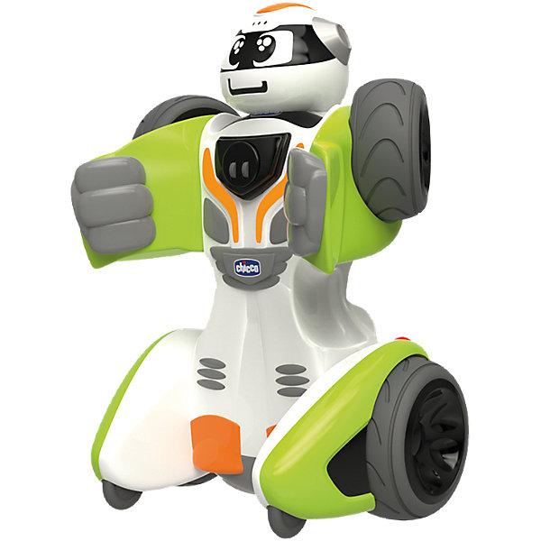 Трансформер RoboChicco, ChiccoРоботы<br>Характеристики товара:<br><br>• возраст от 2 лет;<br>• материал: пластик;<br>• в комплекте: машинка, пульт;<br>• пульт работает от 3 батареек ААА, машинка от 4 батареек АА (батарейки в комплект не входят);<br>• размер игрушки 23х17х12 см;<br>• размер упаковки 30х29х17,8 см;<br>• вес упаковки 1,8 кг;<br>• страна производитель: Китай. <br><br>Трансформер «RoboChicco» Chicco — необычная игрушка, которая трансформируется из обычной машинки в могущественного робота. Трансформация осуществляется при помощи простых движений, а в процессе у малыша развиваются мелкая моторика рук и логическое мышление. Игрушка управляется пультом управления, при помощи которого активируются звуковые и световые эффекты, движения автомобиля. Игрушка выполнена из качественного безопасного материала.<br><br>Трансформер «RoboChicco» Chicco можно приобрести в нашем интернет-магазине.<br><br>Ширина мм: 343<br>Глубина мм: 307<br>Высота мм: 190<br>Вес г: 1460<br>Возраст от месяцев: 24<br>Возраст до месяцев: 60<br>Пол: Мужской<br>Возраст: Детский<br>SKU: 4642245