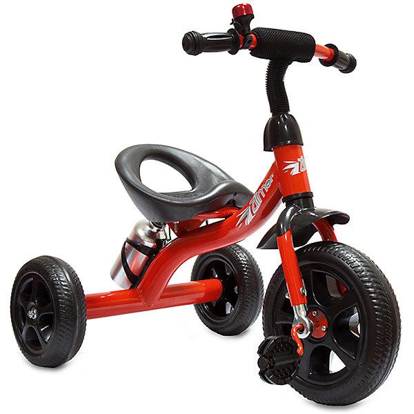 Трехколесный велосипед Сильвер Люкс, красный, ZilmerВелосипеды детские<br>Велосипед Zilmer Сильвер Люкс (3 колеса EVA 10/8, сталь, бутылка, звонок, красн.)        Трёхколёсный велосипед Zilmer!<br>Основные особенности данной модели: колёса EVA, удобное сиденье, бутылочка для воды. Руль оснащён мягкой накладкой. Велосипед сделан из надёжных и безопасных материалов. Яркий цвет  и привлекательный внешний вид обращают на себя внимание.<br>Преимущества:<br>Удобный руль с мягкой накладкой<br>Бутылочка<br>Яркий цвет<br>Вес 1 шт.: 3 кг<br>Ширина мм: 300; Глубина мм: 225; Высота мм: 200; Вес г: 4250; Возраст от месяцев: 24; Возраст до месяцев: 2147483647; Пол: Унисекс; Возраст: Детский; SKU: 4642325;