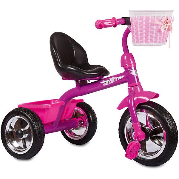 Трехколесный велосипед Сильвер Люкс, розовый, ZilmerВелосипеды детские<br>Велосипед Zilmer Сильвер Люкс (3 колеса EVA 10/8, сталь, спинка, 2 корзины, розов.)        Трёхколёсный велосипед Zilmer!<br>Основные особенности данной модели: колёса EVA, удобное сиденье, две вместительные корзинки. Руль оснащён мягкой накладкой.<br>В корзинку можно сложить необходимые для прогулки вещи. Велосипед сделан из надёжных и безопасных материалов. Яркий цвет  и привлекательный внешний вид обращают на себя внимание.<br>Преимущества:<br>Удобный руль с мягкой накладкой<br>Две корзинки<br>Яркий цвет<br>Вес 1 шт.: 3 кг<br>Ширина мм: 300; Глубина мм: 225; Высота мм: 200; Вес г: 4250; Возраст от месяцев: 12; Возраст до месяцев: 36; Пол: Унисекс; Возраст: Детский; SKU: 4642328;