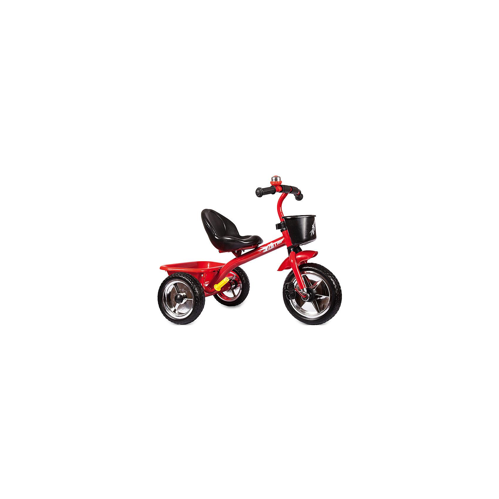 Трехколесный велосипед Голден Люкс, красный, ZilmerВелосипеды детские<br>Велосипед Zilmer Голден Люкс (3 колеса EVA 10/8, сталь, спинка, 2 корзины, гудок, красн.)        Трёхколёсный велосипед Zilmer!<br>Основные особенности данной модели: колёса EVA, удобное сиденье, две вместительные корзинки. Руль оснащён мягкой накладкой.<br>В корзинку можно сложить необходимые для прогулки вещи. Велосипед сделан из надёжных и безопасных материалов. Яркий цвет  и привлекательный внешний вид обращают на себя внимание.<br>Преимущества:<br>Удобный руль с мягкой накладкой<br>Две корзинки<br>Яркий цвет<br>Вес 1 шт.: 3 кг<br><br>Ширина мм: 300<br>Глубина мм: 225<br>Высота мм: 200<br>Вес г: 4250<br>Возраст от месяцев: 12<br>Возраст до месяцев: 36<br>Пол: Унисекс<br>Возраст: Детский<br>SKU: 4642329