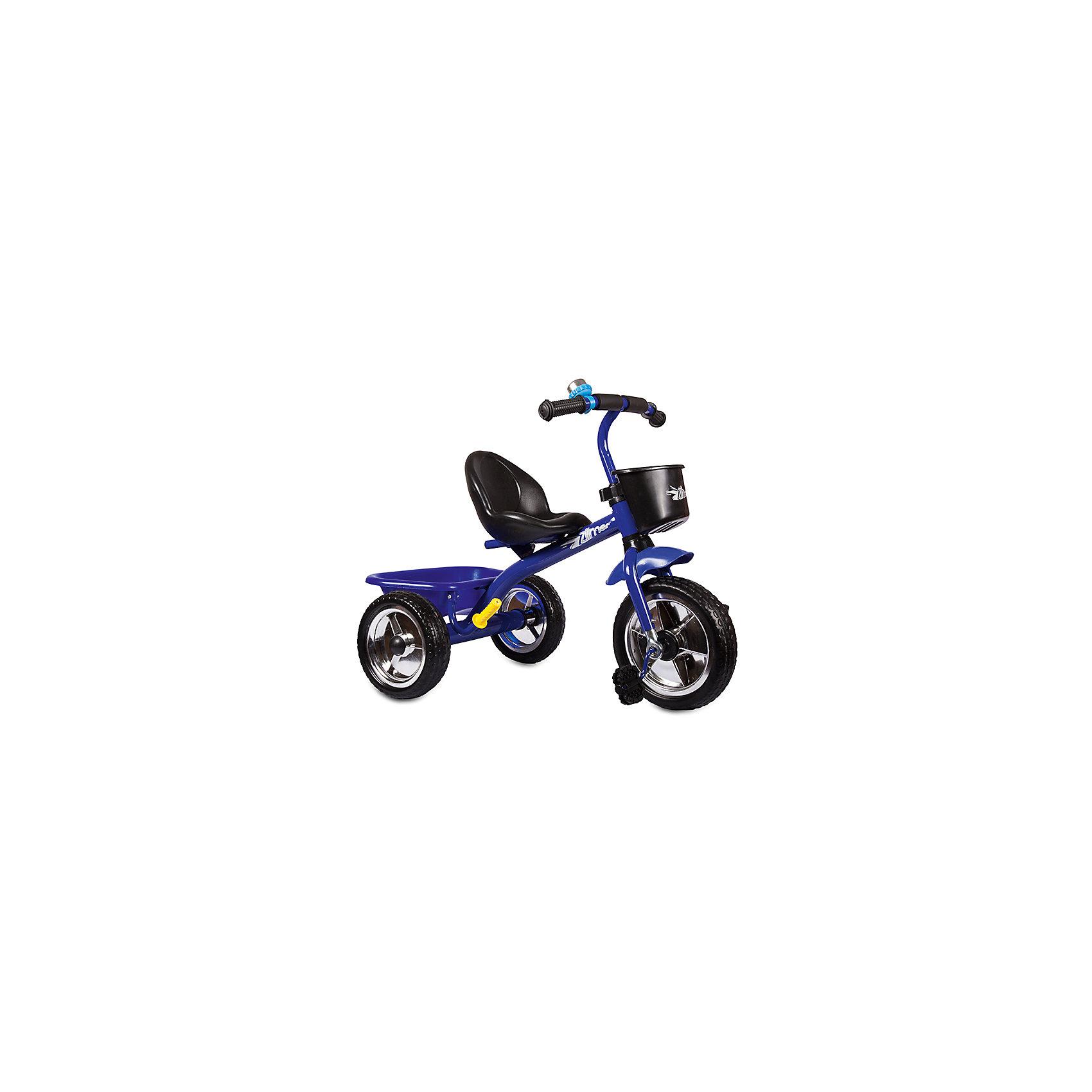Трехколесный велосипед Голден Люкс, синий, ZilmerВелосипед Zilmer Голден Люкс (3 колеса EVA 10/8, сталь, спинка, 2 корзины, гудок, син.)        Трёхколёсный велосипед Zilmer!<br>Основные особенности данной модели: колёса EVA, удобное сиденье, две вместительные корзинки. Руль оснащён мягкой накладкой.<br>В корзинку можно сложить необходимые для прогулки вещи. Велосипед сделан из надёжных и безопасных материалов. Яркий цвет  и привлекательный внешний вид обращают на себя внимание.<br>Преимущества:<br>Удобный руль с мягкой накладкой<br>Две корзинки<br>Яркий цвет<br>Вес 1 шт.: 3 кг<br><br>Ширина мм: 300<br>Глубина мм: 225<br>Высота мм: 200<br>Вес г: 4250<br>Возраст от месяцев: 12<br>Возраст до месяцев: 36<br>Пол: Унисекс<br>Возраст: Детский<br>SKU: 4642330