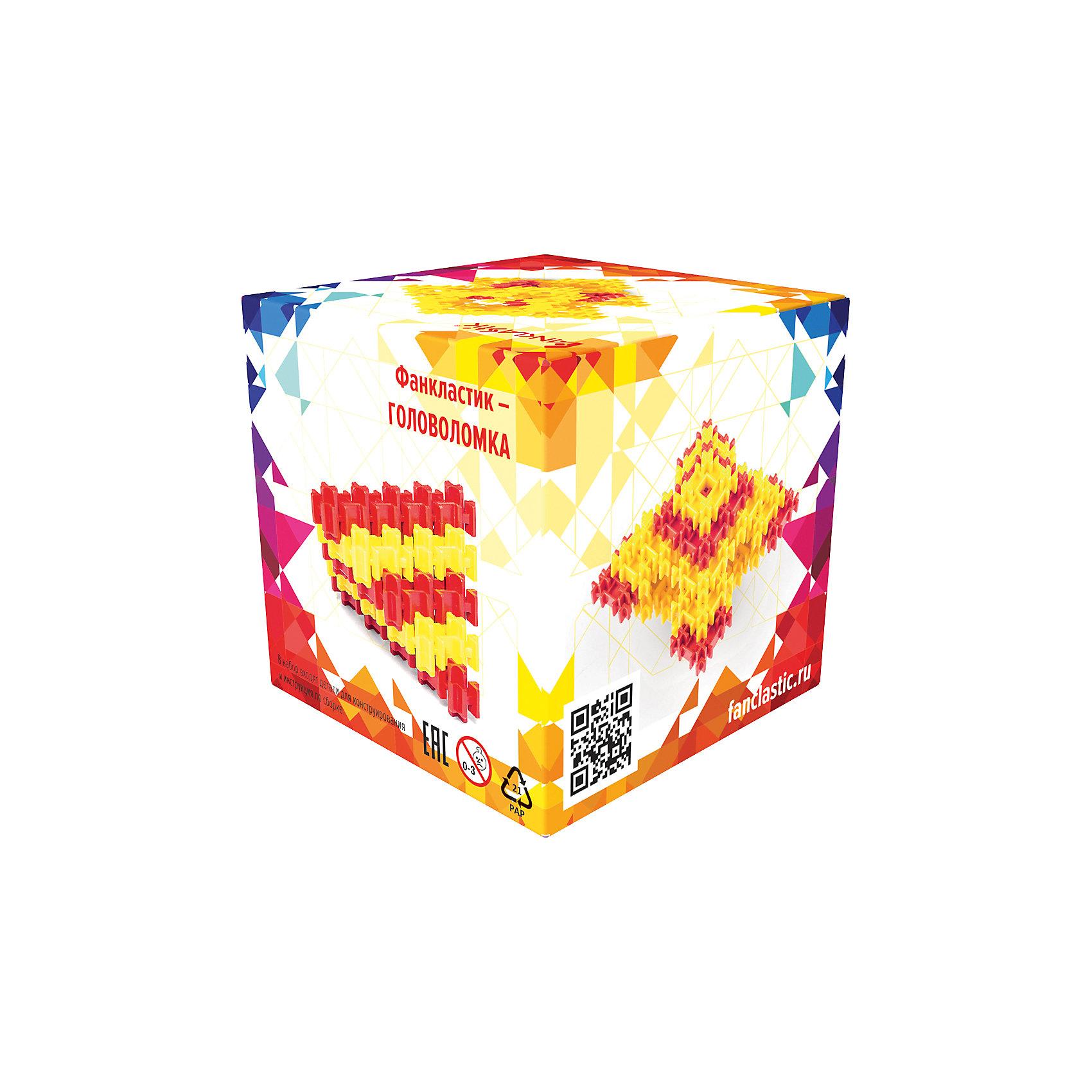 Конструктор Fanclastic ГоловоломкаПервый в мире модульный конструктор Фанкластик (Fanclastic) – уникальная развивающая игра для детей, разработанная в России и не имеющая мировых аналогов. Этот набор-головоломка позволяет собрать 8 моделей по представленным во вкладыше фотографиям без использования инструкций. Все детали конструктора выполнены из высококачественного пластика, имеют прочные соединения, поэтому собранные модели можно использовать как игрушки, брать с собой куда угодно, не опасаясь за целостность как отдельных деталей конструктора, так и собранной конструкции.<br>Конструирование - увлекательный и полезный процесс, развивающий моторику рук, внимание, пространственное мышление и фантазию. <br><br>Дополнительная информация:<br><br>- Материал: ABS пластик.<br>- Размер упаковки: 27х18х18 см.<br>- Количество деталей: 27  шт. <br>- Модели, которые можно собрать из набора: фант, куб, портал, кристалл, призма, зигзаг, триангл, кварта.<br>- Совместимы с другими наборами.  <br><br>Конструктор Fanclastic Головоломка можно купить в нашем магазине.<br><br>Ширина мм: 85<br>Глубина мм: 85<br>Высота мм: 85<br>Вес г: 102<br>Возраст от месяцев: 120<br>Возраст до месяцев: 192<br>Пол: Унисекс<br>Возраст: Детский<br>SKU: 4642341