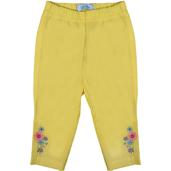 Брюки для девочки БимошаБрюки<br>Однотонные зауженные брюки украшены вышивкой, пояс на резинке. Состав: Поплин 97% хлопок, 3% эластан<br>Ширина мм: 215; Глубина мм: 88; Высота мм: 191; Вес г: 336; Цвет: желтый; Возраст от месяцев: 3; Возраст до месяцев: 6; Пол: Женский; Возраст: Детский; Размер: 68,86,92,80,74; SKU: 4645360;
