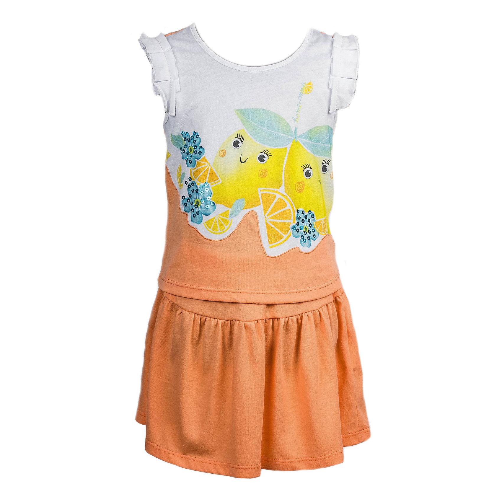 Комплект: Футболка и юбка для девочки Bell BimboДжемпер сочетает однотонную ткань и ткань с печатью и пайетками, рукава украшены рюшами. Юбка однотонная, на резинке, расклешенная. Состав:  кулирная гладь 100%хлопок<br><br>Ширина мм: 199<br>Глубина мм: 10<br>Высота мм: 161<br>Вес г: 151<br>Цвет: бежевый<br>Возраст от месяцев: 24<br>Возраст до месяцев: 36<br>Пол: Женский<br>Возраст: Детский<br>Размер: 98,122,116,110,104<br>SKU: 4645409