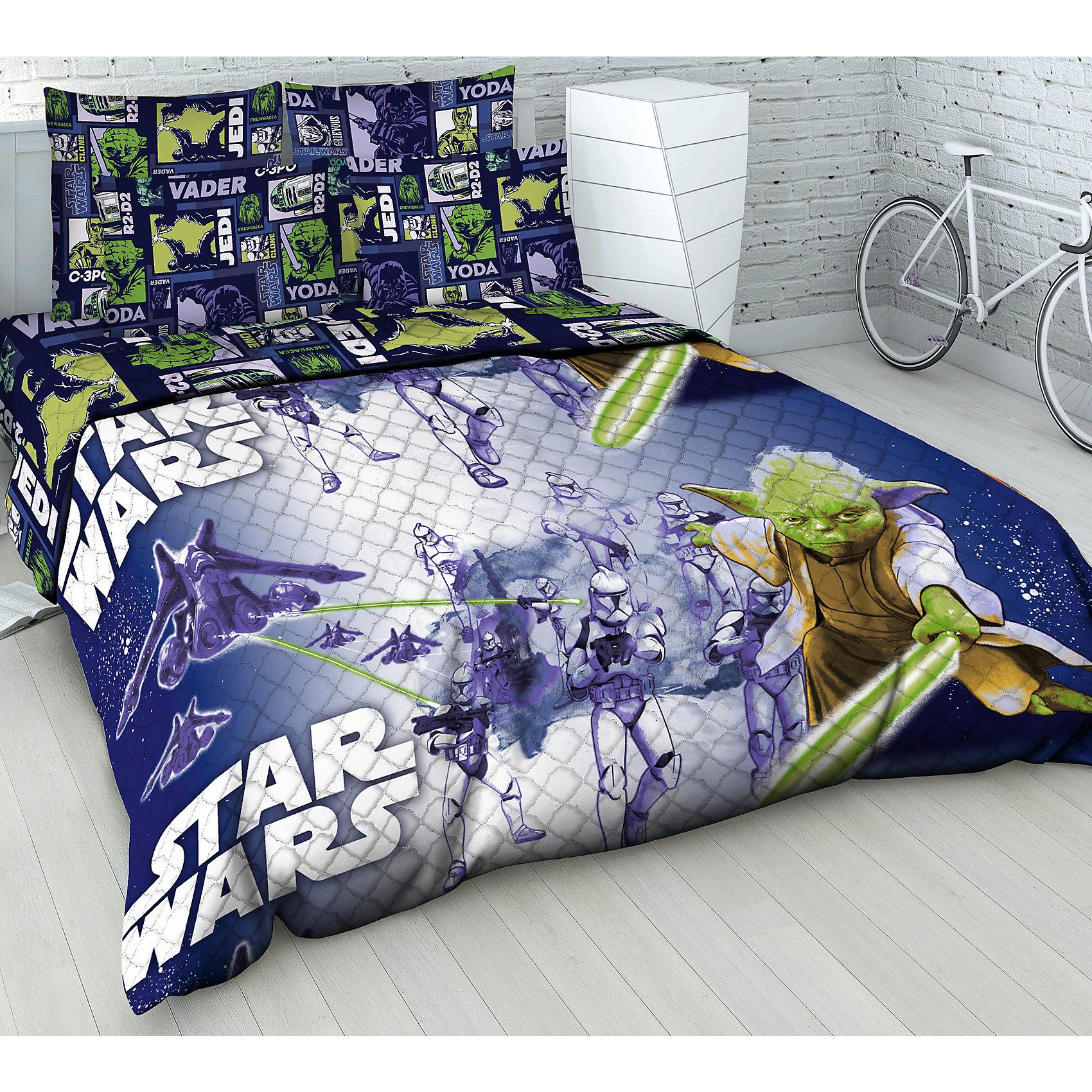 Покрывало Магистр Йода 1,5-спальное, ВасилекПокрывало Магистр Йода 1,5-спальное, Василек - эффектно дополнит интерьер комнаты вашего ребенка и создаст атмосферу уюта.<br>Волшебное, невероятно красивое стёганое покрывало Магистр Йода с героями саги Звездные войны, несомненно, будет по душе вашему ребенку. Яркие и сочные краски заиграют в детской комнате по-новому, даря ей уют и привлекательность, увлекая в мир любимых персонажей. Полутораспальное покрывало может использоваться в качестве легкого одеяла. Оно хорошо сохраняет тепло и прекрасно пропускает воздух. Порывало гипоаллергенно, изготовлено из бязи (100% хлопок) с применением натуральных красителей. Наполнитель покрывала -силиконизированное волокно. Легкие и теплые изделия с этим наполнителем легко стираются, быстро высыхают и сохраняют свои свойства после длительной эксплуатации. Единичная составляющая волокна имеет вид спиральной пружины. Это свойство позволяет волокну, в отличие от других материалов быстро восстанавливать свою форму после смятия, иметь высокую стойкость к сохранению своей формы с течением времени. Стёганое покрывало Магистр Йода восхищает своей безупречностью и качеством исполнения.<br><br>Дополнительная информация:<br><br>- Размер: 145х205 см.<br>- Материал верха: бязь<br>- Наполнитель: силиконизированное волокно<br><br>Покрывало Магистр Йода 1,5-спальное, Василек можно купить в нашем интернет-магазине.<br><br>Ширина мм: 380<br>Глубина мм: 80<br>Высота мм: 280<br>Вес г: 1200<br>Возраст от месяцев: 84<br>Возраст до месяцев: 168<br>Пол: Мужской<br>Возраст: Детский<br>SKU: 4645556