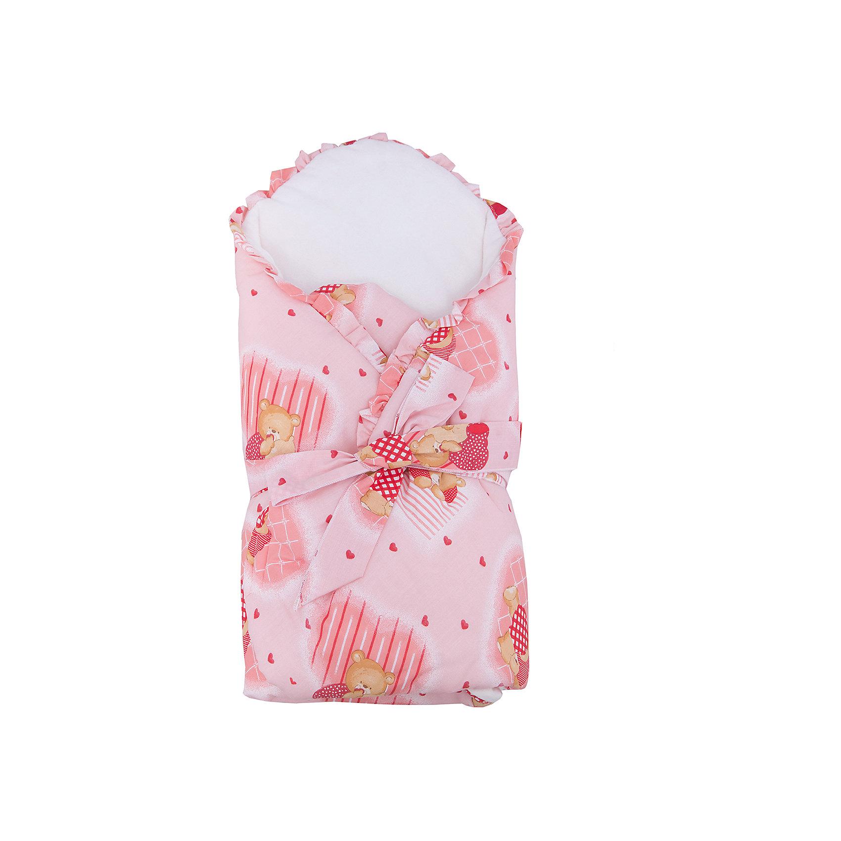 Конверт-одеяло в коляску, Бимоша, светло-розовыйКонверт-одеяло в коляску, Бимоша, прекрасно подойдет как на выписку малыша, так и для прогулок в коляске в прохладную погоду. Конверт выполнен из высококачественных материалов, нежная мягкая ткань не раздражает чувствительную и нежную кожу малыша, хорошо пропускает воздух и сохраняет тепло. Съёмный поролоновый вкладыш надежно поддерживает спинку ребенка в комфортном положении. Верх конверта изготовлен из приятной хлопковой ткани, подкладка из мягкой фланели, наполнитель - синтепон. Конверт имеет нарядный привлекательный дизайн в нежных светло-розовых тонах и украшен принтом с забавными мишками и рюшами по краям. Надежно закрепляется застежкой на липучке и завязкой на бант. Конверт полностью раскладывается и его можно использовать как мягкое и уютное детское<br>одеяло, вынув вкладыш. <br><br>Дополнительная информация:<br><br>- Цвет: светло-розовый.<br>- Сезон: весна-осень.<br>- Материал: верх конверта - 65% хлопок 35% полиэстер, подкладка - фланель (100% хлопок), утеплитель - синтепон 200г/м?. <br>- Размер: 80 х 80 см.<br>- Вес: 0,5 кг.<br><br>Конверт-одеяло в коляску, Бимоша, светло-розовый, можно купить в нашем интернет-магазине.<br><br>Ширина мм: 800<br>Глубина мм: 800<br>Высота мм: 50<br>Вес г: 500<br>Возраст от месяцев: 0<br>Возраст до месяцев: 24<br>Пол: Женский<br>Возраст: Детский<br>SKU: 4645568