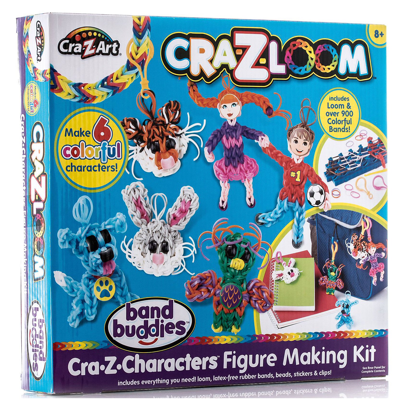 Crazy Loom Набор резиночек для плетения брелков, Cra-Z-Loom