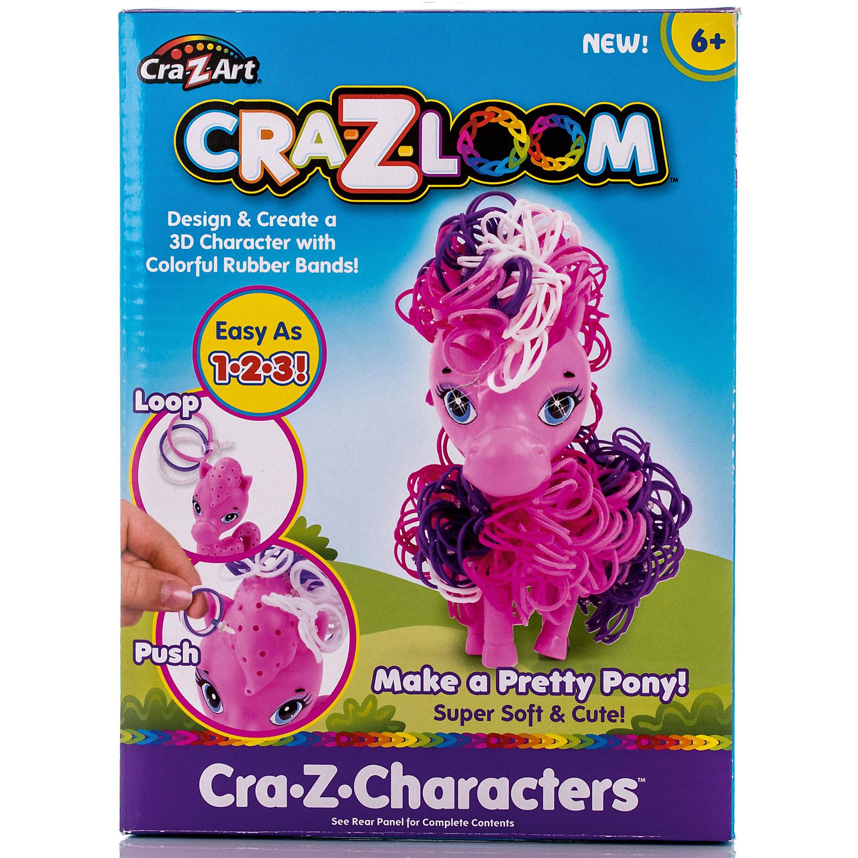 Crazy Loom Набор для плетения из резиночек Пони, Cra-Z-Loom с клипсы rainbow loom для плетения браслетов из резиночек rainbow loom