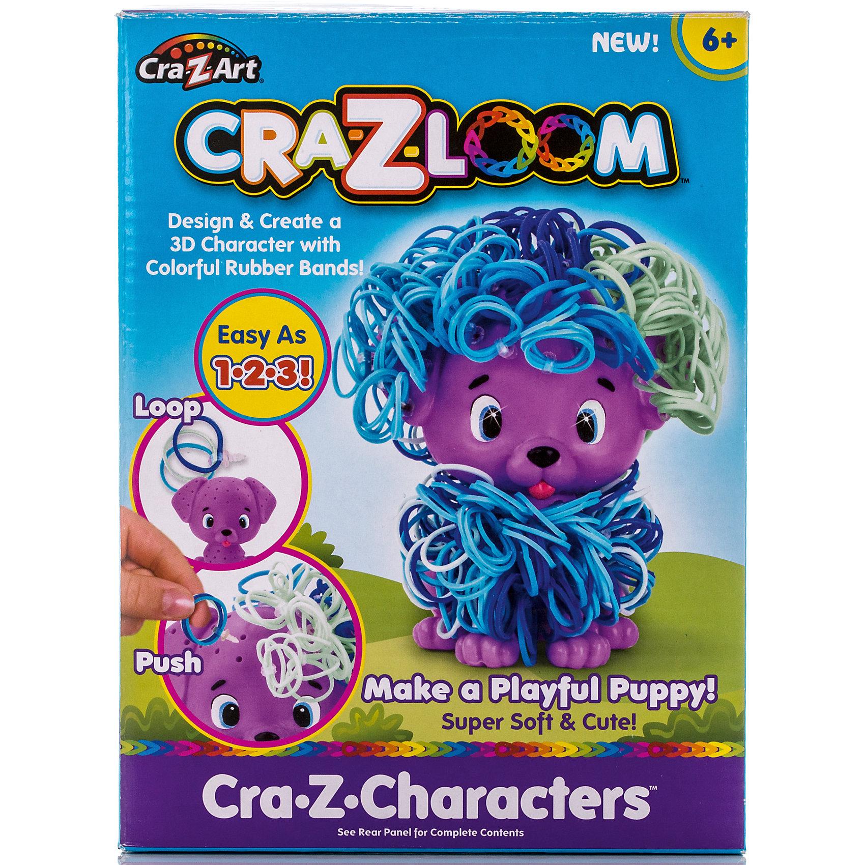 Crazy Loom Набор для плетения из резиночек Щенок, Cra-Z-Loom с клипсы rainbow loom для плетения браслетов из резиночек rainbow loom