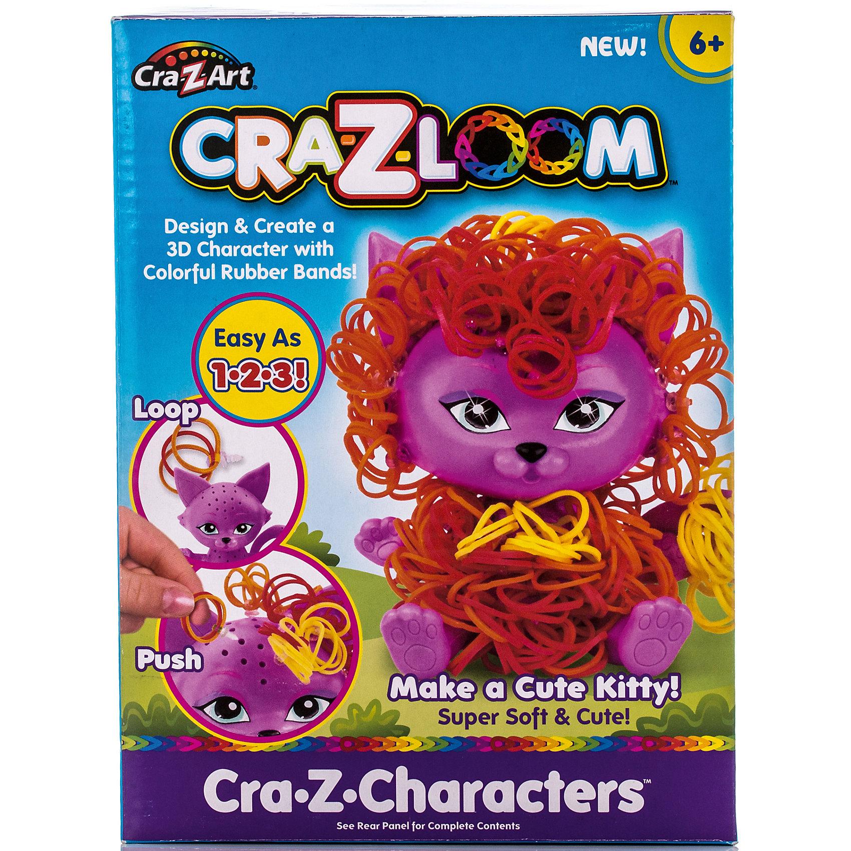 Crazy Loom Набор для плетения из резиночек Котик, Cra-Z-Loom набор для творчества diy резиночки для плетения слоник