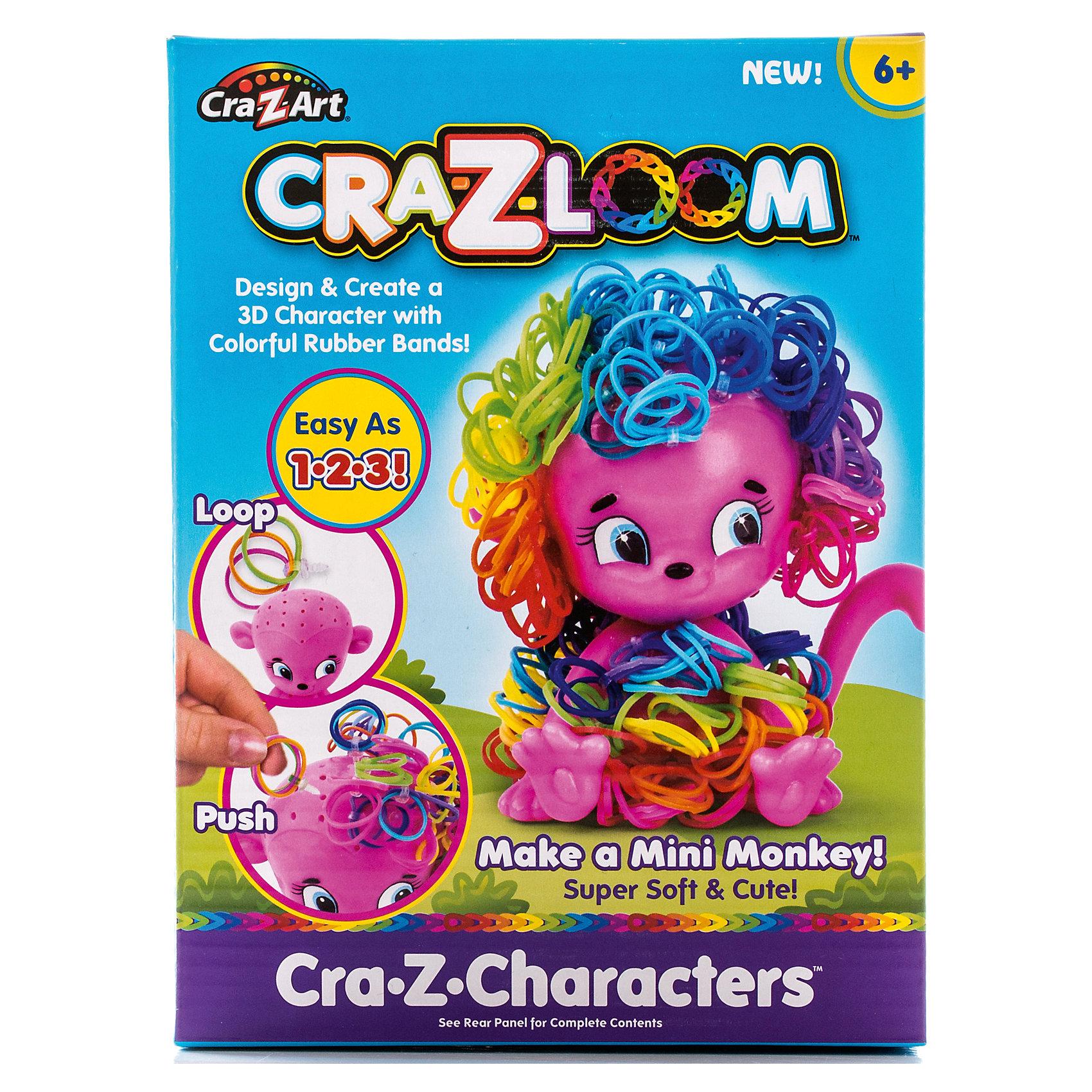 Crazy Loom Набор для плетения из резиночек Обезьянка, Cra-Z-Loom набор для детского творчества голографическая мозаика обезьянка с2600 09