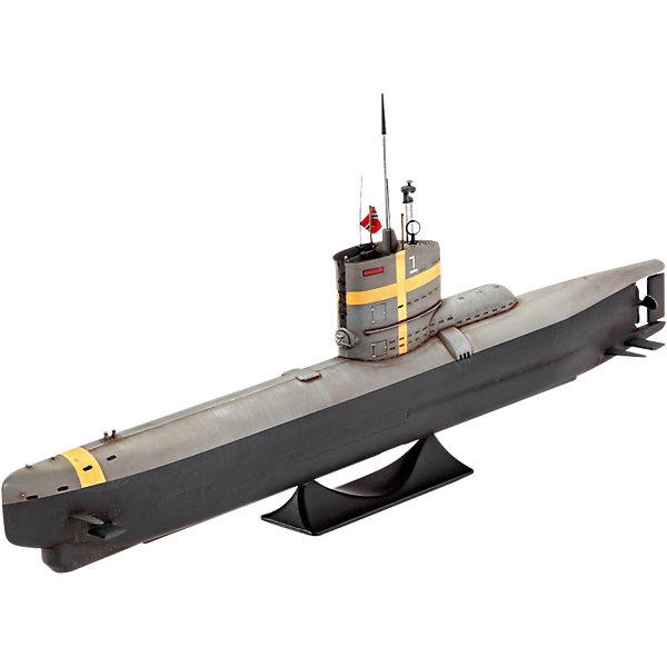 Сборная модель Немецкая Подводная лодка тип XXIII 1:144Корабли и подводные лодки<br>Характеристики товара:<br><br>• возраст: от 10 лет;<br>• цвет: белый;<br>• масштаб: 1:144;<br>• количество деталей: 23 шт;<br>• материал: пластик; <br>• клей и краски в комплект не входят;<br>• длина модели: 24,2 см;<br>• бренд, страна бренда: Revell (Ревел), Германия;<br>• страна-изготовитель: Корея.<br><br>Сборная модель «Немецкая Подводная лодка тип XXIII» от компании Revell представляет собой миниатюрную копию настоящей субмарины Type XXIII. <br><br>Чтобы приступить к ее сборке, необходимо предварительно выдавить неокрашенные детали из пластмассовых рамок. Конечный результат можно установить на специальную подставку, а наклейки, которые также входят в комплект, сделают его еще больше похожим на реальный прототип.<br><br>В комплект набора входит: 23 пластиковые детали, декаль с наклейками, а также подробная иллюстрирована инструкция. Обращаем ваше внимание на тот факт, что для сборки этой модели клей, кисточки и краски в комплект не входят. <br><br>Моделирование — это очень увлекательное и полезное занятие, которое по достоинству оценят не только дети, но и взрослые, увлекающиеся военной техникой. Сборка моделей поможет ребенку развить воображение, мелкую моторику ручек и логическое мышление.<br><br>Сборную модель «Немецкая Подводная лодка тип XXIII», 55 дет., Revell (Ревел) можно купить в нашем интернет-магазине.<br>Ширина мм: 311; Глубина мм: 185; Высота мм: 50; Вес г: 158; Возраст от месяцев: 144; Возраст до месяцев: 192; Пол: Мужской; Возраст: Детский; SKU: 4649118;