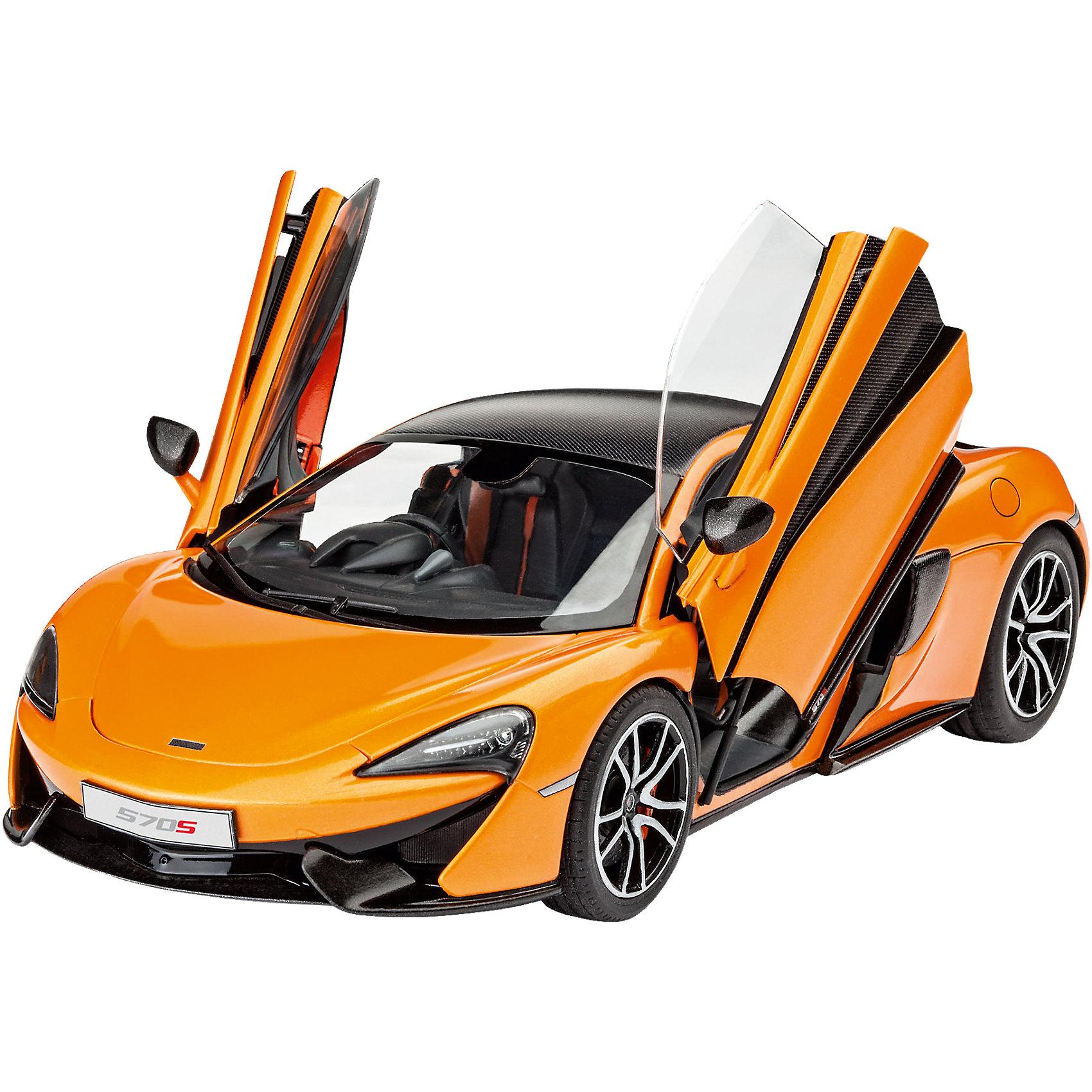 Спорткар McLaren 570SМодели для склеивания<br>Сборная модель автомобиля McLaren 570S 07051. Спорткар от именитого автопроизводителя впервые в пластике. Модель в масштабе 1 к 24. Машину необходимо склеить и затем покрасить. Клей и краски приобретаются отдельно.  <br><br>Вы можете собрать праворульную или леворульную версии машины. Также присутствует возможность собрать двери в отрытом или закрытом состояниях. Капот, к сожалению, открыть нельзя.  <br><br>Длина модели после полной сборки составит 19 см. Всего в комплекте 106 деталей. В наборе есть декали с российскими номерными знаками и номерами стран ЕС. <br><br>Рекомендуется для взрослых и детей в возрасте от 10 лет.<br><br>Ширина мм: 359<br>Глубина мм: 213<br>Высота мм: 73<br>Вес г: 408<br>Возраст от месяцев: 120<br>Возраст до месяцев: 180<br>Пол: Мужской<br>Возраст: Детский<br>SKU: 4649135
