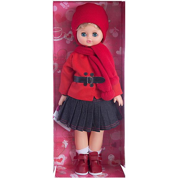 Кукла Алиса 29, со звуком, ВеснаБренды кукол<br>Кукла Алиса 29 со звуком от марки Весна<br><br>Красивая и качественная кукла от отечественного производителя способна не просто помочь ребенку весело проводить время, но и научить девочку одеваться по сезону. На ней - теплый костюм с шапкой и ботинки, всё можно снимать и надевать.<br>Кукла произносит несколько фраз, механизм работает от батареек, которые идут в комплекте. Также игрушка оснащена механизмом, имитирующем ходьбу: если потянуть куклу за руку, она будет переставлять ноги, а если положить на спину - закроются глаза. Сделана игрушка из качественных и безопасных для ребенка материалов.<br><br>Отличительные особенности куклы:<br><br>- материал: пластмасса;<br>- волосы: прошивные;<br>- механизм движения;<br>- звуковой модуль;<br>- голова поворачивается;<br>- руки и ноги гнутся;<br>- снимающаяся одежда и обувь;<br>- закрывающиеся глаза;<br>- высота: 55 см.<br><br>Комплектация:<br><br>- шапка;<br>- шарф;<br>- блузка;<br>- куртка;<br>- носки;<br>- ботинки;<br>- юбка;<br>- три батарейки СЦ 357;<br>- инструкция.<br><br>Куклу Алиса 29 со звуком от марки Весна можно купить в нашем магазине.<br><br>Ширина мм: 240<br>Глубина мм: 150<br>Высота мм: 590<br>Вес г: 900<br>Возраст от месяцев: 36<br>Возраст до месяцев: 120<br>Пол: Женский<br>Возраст: Детский<br>SKU: 4650457