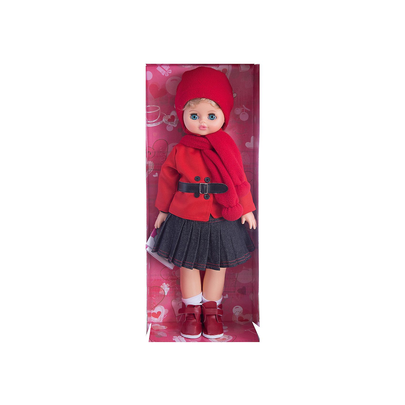 Кукла Алиса 29, со звуком, ВеснаИнтерактивные куклы<br>Кукла Алиса 29 со звуком от марки Весна<br><br>Красивая и качественная кукла от отечественного производителя способна не просто помочь ребенку весело проводить время, но и научить девочку одеваться по сезону. На ней - теплый костюм с шапкой и ботинки, всё можно снимать и надевать.<br>Кукла произносит несколько фраз, механизм работает от батареек, которые идут в комплекте. Также игрушка оснащена механизмом, имитирующем ходьбу: если потянуть куклу за руку, она будет переставлять ноги, а если положить на спину - закроются глаза. Сделана игрушка из качественных и безопасных для ребенка материалов.<br><br>Отличительные особенности куклы:<br><br>- материал: пластмасса;<br>- волосы: прошивные;<br>- механизм движения;<br>- звуковой модуль;<br>- голова поворачивается;<br>- руки и ноги гнутся;<br>- снимающаяся одежда и обувь;<br>- закрывающиеся глаза;<br>- высота: 55 см.<br><br>Комплектация:<br><br>- шапка;<br>- шарф;<br>- блузка;<br>- куртка;<br>- носки;<br>- ботинки;<br>- юбка;<br>- три батарейки СЦ 357;<br>- инструкция.<br><br>Куклу Алиса 29 со звуком от марки Весна можно купить в нашем магазине.<br><br>Ширина мм: 240<br>Глубина мм: 150<br>Высота мм: 590<br>Вес г: 900<br>Возраст от месяцев: 36<br>Возраст до месяцев: 120<br>Пол: Женский<br>Возраст: Детский<br>SKU: 4650457