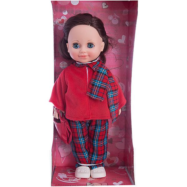Кукла Анна 12, со звуком, ВеснаБренды кукол<br>Кукла Анна 12 со звуком от марки Весна<br><br>Симпатичная и качественная кукла от отечественного производителя способна не просто помочь ребенку весело проводить время, но и научить девочку одеваться по сезону. На ней - теплый костюм, сумочка и ботинки, всё можно снимать и надевать.<br>Кукла произносит несколько фраз, механизм работает от батареек, которые идут в комплекте. Очень красиво смотрятся длинные волосы, на которых можно делать прически. Сделана игрушка из качественных и безопасных для ребенка материалов.<br><br>Отличительные особенности куклы:<br><br>- материал: пластмасса;<br>- волосы: прошивные;<br>- звуковой модуль;<br>- голова поворачивается;<br>- руки и ноги гнутся;<br>- снимающаяся одежда и обувь;<br>- закрывающиеся глаза;<br>- высота: 42 см.<br><br>Комплектация:<br><br>- одежда;<br>- три батарейки СЦ 357.<br><br>Куклу Анна 12 со звуком от марки Весна можно купить в нашем магазине.<br><br>Ширина мм: 490<br>Глубина мм: 210<br>Высота мм: 130<br>Вес г: 550<br>Возраст от месяцев: 36<br>Возраст до месяцев: 120<br>Пол: Женский<br>Возраст: Детский<br>SKU: 4650458