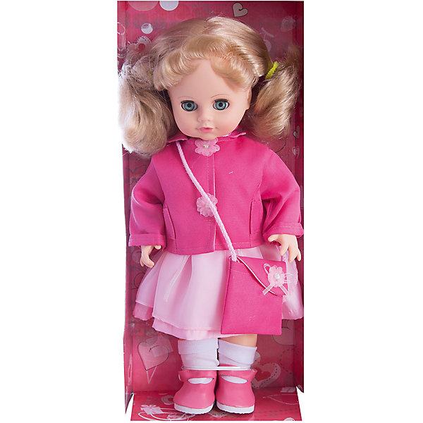 Кукла Инна 23, со звуком, 43 см, ВеснаКуклы<br>Кукла Инна 23 со звуком от марки Весна<br><br>Красивая и качественная кукла от отечественного производителя способна не просто помочь ребенку весело проводить время, но и научить девочку одеваться по сезону. На ней - красивая одежда, сумочка и ботинки, всё можно снимать и надевать.<br>Кукла произносит несколько фраз, механизм работает от батареек, которые идут в комплекте. Сделана игрушка из качественных и безопасных для ребенка материалов.<br><br>Отличительные особенности куклы:<br><br>- материал: пластмасса;<br>- волосы: прошивные;<br>- звуковой модуль;<br>- голова поворачивается;<br>- руки и ноги гнутся;<br>- снимающаяся одежда и обувь;<br>- закрывающиеся глаза;<br>- высота: 43 см.<br><br>Комплектация:<br><br>- одежда;<br>- три батарейки СЦ 357.<br><br>Куклу Инна 23 со звуком от марки Весна можно купить в нашем магазине.<br><br>Ширина мм: 210<br>Глубина мм: 130<br>Высота мм: 430<br>Вес г: 550<br>Возраст от месяцев: 36<br>Возраст до месяцев: 120<br>Пол: Женский<br>Возраст: Детский<br>SKU: 4650459