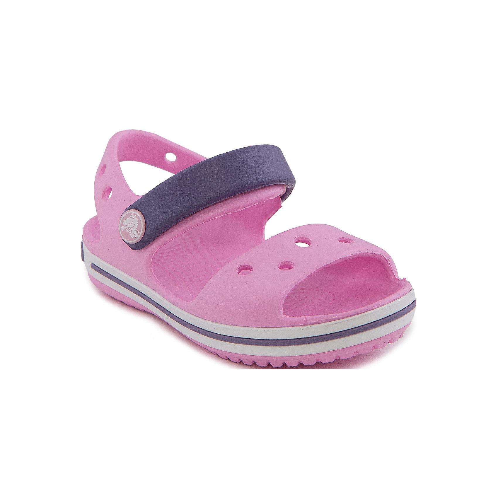 Сандалии Crocband™ Sandal Kids для девочки CrocsПляжная обувь<br>Характеристики товара:<br><br>• цвет: розовый<br>• сезон: лето<br>• материал: 100% полимер Croslite™<br>• бактериостатичный материал<br>• ремешок фиксирует стопу<br>• антискользящая устойчивая подошва<br>• липучка<br>• анатомическая стелька с массажными точками<br>• страна бренда: США<br>• страна изготовитель: Китай<br><br>Для правильного развития ребенка крайне важно, чтобы обувь была удобной.<br><br>Такие сандалии обеспечивают детям необходимый комфорт, а анатомическая стелька с массажными линиями для стимуляции кровообращения позволяет ножкам дольше не уставать. <br><br>Сандалии легко надеваются и снимаются, отлично сидят на ноге. <br><br>Материал, из которого они сделаны, не дает размножаться бактериям, поэтому такая обувь препятствует образованию неприятного запаха и появлению болезней стоп. <br><br>Обувь от американского бренда Crocs в данный момент завоевала широкую популярность во всем мире, и это не удивительно - ведь она невероятно удобна. <br><br>Сандалии Crocband™ Sandal Kids от торговой марки Crocs можно купить в нашем интернет-магазине.<br><br>Ширина мм: 219<br>Глубина мм: 154<br>Высота мм: 121<br>Вес г: 343<br>Цвет: розовый<br>Возраст от месяцев: 132<br>Возраст до месяцев: 144<br>Пол: Женский<br>Возраст: Детский<br>Размер: 34/35,28,23,26,21,25,24,22,30,29,27,31/32,33/34<br>SKU: 4651734