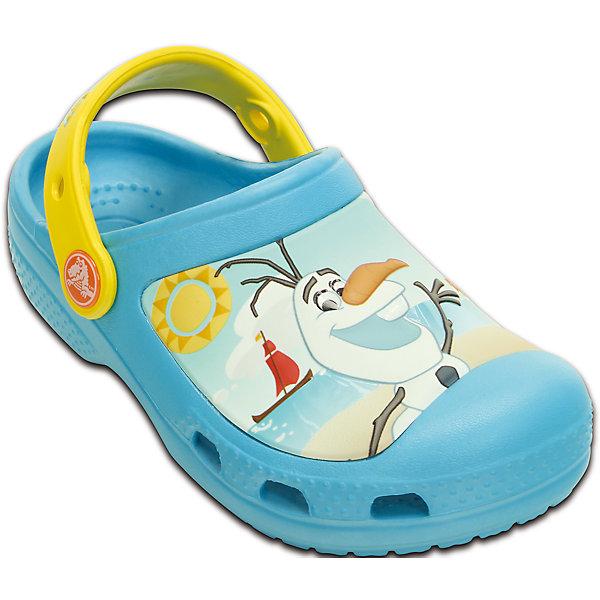 Сабо Creative Crocs Olaf Clog CrocsПляжная обувь<br>Характеристики товара:<br><br>• цвет: голубой<br>• материал: 100% полимер Croslite™<br>• литая модель<br>• вентиляционные отверстия<br>• бактериостатичный материал<br>• пяточный ремешок фиксирует стопу<br>• толстая устойчивая подошва<br>• с принтом<br>• анатомическая стелька с массажными точками стимулирует кровообращение<br>• страна бренда: США<br>• страна изготовитель: Китай<br><br>Для правильного развития ребенка крайне важно, чтобы обувь была удобной. Такие сабо обеспечивают детям необходимый комфорт, а анатомическая стелька с массажными линиями для стимуляции кровообращения позволяет ножкам дольше не уставать. Сабо легко надеваются и снимаются, отлично сидят на ноге. Материал, из которого они сделаны, не дает размножаться бактериям, поэтому такая обувь препятствует образованию неприятного запаха и появлению болезней стоп. <br>Обувь от американского бренда Crocs в данный момент завоевала широкую популярность во всем мире, и это не удивительно - ведь она невероятно удобна. Её носят врачи, спортсмены, звёзды шоу-бизнеса, люди, которым много времени приходится бывать на ногах - они понимают, как важна комфортная обувь. Продукция Crocs - это качественные товары, созданные с применением новейших технологий. Обувь отличается стильным дизайном и продуманной конструкцией. Изделие производится из качественных и проверенных материалов, которые безопасны для детей.<br><br>Сабо Creative Crocs Olaf Clog от торговой марки Crocs можно купить в нашем интернет-магазине.<br><br>Ширина мм: 225<br>Глубина мм: 139<br>Высота мм: 112<br>Вес г: 290<br>Цвет: синий<br>Возраст от месяцев: 24<br>Возраст до месяцев: 24<br>Пол: Унисекс<br>Возраст: Детский<br>Размер: 25/26,21/22,23/24,31/32,27/28,29/30<br>SKU: 4651772