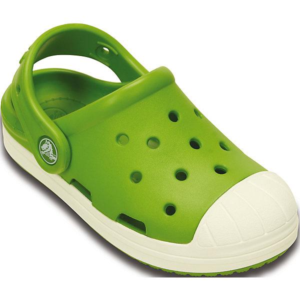 Сабо Kids' Crocs Bump It Clog CrocsПляжная обувь<br>Характеристики товара:<br><br>• цвет: зеленый<br>• материал: 100% полимер Croslite™<br>• литая модель<br>• вентиляционные отверстия<br>• бактериостатичный материал<br>• пяточный ремешок фиксирует стопу<br>• толстая устойчивая подошва<br>• отверстия для использования украшений<br>• анатомическая стелька с массажными точками стимулирует кровообращение<br>• страна бренда: США<br>• страна изготовитель: Китай<br><br>Для правильного развития ребенка крайне важно, чтобы обувь была удобной. Такие сабо обеспечивают детям необходимый комфорт, а анатомическая стелька с массажными линиями для стимуляции кровообращения позволяет ножкам дольше не уставать. Сабо легко надеваются и снимаются, отлично сидят на ноге. Материал, из которого они сделаны, не дает размножаться бактериям, поэтому такая обувь препятствует образованию неприятного запаха и появлению болезней стоп. <br>Обувь от американского бренда Crocs в данный момент завоевала широкую популярность во всем мире, и это не удивительно - ведь она невероятно удобна. Её носят врачи, спортсмены, звёзды шоу-бизнеса, люди, которым много времени приходится бывать на ногах - они понимают, как важна комфортная обувь. Продукция Crocs - это качественные товары, созданные с применением новейших технологий. Обувь отличается стильным дизайном и продуманной конструкцией. Изделие производится из качественных и проверенных материалов, которые безопасны для детей.<br><br>Сабо Kids' Crocs Bump It Clog от торговой марки Crocs можно купить в нашем интернет-магазине.<br>Ширина мм: 225; Глубина мм: 139; Высота мм: 112; Вес г: 290; Цвет: зеленый; Возраст от месяцев: 60; Возраст до месяцев: 72; Пол: Унисекс; Возраст: Детский; Размер: 29,31/32,28,30,23,24,25,26,27; SKU: 4651779;