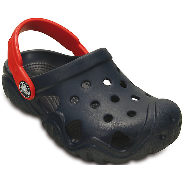 Сабо Kids' Swiftwater Clog для мальчика CrocsПляжная обувь<br>Характеристики товара:<br><br>• цвет: черный<br>• материал: 100% полимер Croslite™<br>• литая модель<br>• вентиляционные отверстия<br>• бактериостатичный материал<br>• пяточный ремешок фиксирует стопу<br>• толстая устойчивая подошва<br>• отверстия для использования украшений<br>• анатомическая стелька с массажными точками стимулирует кровообращение<br>• страна бренда: США<br>• страна изготовитель: Китай<br><br>Для правильного развития ребенка крайне важно, чтобы обувь была удобной. Такие сабо обеспечивают детям необходимый комфорт, а анатомическая стелька с массажными линиями для стимуляции кровообращения позволяет ножкам дольше не уставать. Сабо легко надеваются и снимаются, отлично сидят на ноге. Материал, из которого они сделаны, не дает размножаться бактериям, поэтому такая обувь препятствует образованию неприятного запаха и появлению болезней стоп. <br>Обувь от американского бренда Crocs в данный момент завоевала широкую популярность во всем мире, и это не удивительно - ведь она невероятно удобна. Её носят врачи, спортсмены, звёзды шоу-бизнеса, люди, которым много времени приходится бывать на ногах - они понимают, как важна комфортная обувь. Продукция Crocs - это качественные товары, созданные с применением новейших технологий. Обувь отличается стильным дизайном и продуманной конструкцией. Изделие производится из качественных и проверенных материалов, которые безопасны для детей.<br><br>Сабо Kids' Swiftwater Clog для мальчика от торговой марки Crocs можно купить в нашем интернет-магазине.<br>Ширина мм: 225; Глубина мм: 139; Высота мм: 112; Вес г: 290; Цвет: синий; Возраст от месяцев: 21; Возраст до месяцев: 24; Пол: Мужской; Возраст: Детский; Размер: 24,27,31/32,33/34,34/35,28,29,30,23,25,26; SKU: 4651789;