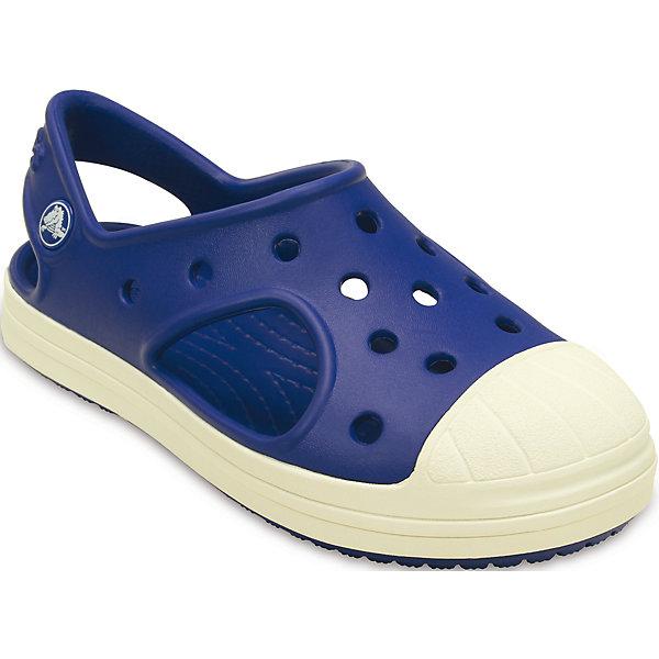 Сандалии Kids' Crocs Bump It Sandal CrocsПляжная обувь<br>Характеристики товара:<br><br>• цвет: синий<br>• материал: 100% полимер Croslite™<br>• литая модель<br>• вентиляционные отверстия<br>• бактериостатичный материал<br>• пяточный ремешок фиксирует стопу<br>• толстая устойчивая подошва<br>• отверстия для использования украшений<br>• анатомическая стелька с массажными точками стимулирует кровообращение<br>• страна бренда: США<br>• страна изготовитель: Китай<br><br>Для правильного развития ребенка крайне важно, чтобы обувь была удобной. Такие сабо обеспечивают детям необходимый комфорт, а анатомическая стелька с массажными линиями для стимуляции кровообращения позволяет ножкам дольше не уставать. Сабо легко надеваются и снимаются, отлично сидят на ноге. Материал, из которого они сделаны, не дает размножаться бактериям, поэтому такая обувь препятствует образованию неприятного запаха и появлению болезней стоп. <br>Обувь от американского бренда Crocs в данный момент завоевала широкую популярность во всем мире, и это не удивительно - ведь она невероятно удобна. Её носят врачи, спортсмены, звёзды шоу-бизнеса, люди, которым много времени приходится бывать на ногах - они понимают, как важна комфортная обувь. Продукция Crocs - это качественные товары, созданные с применением новейших технологий. Обувь отличается стильным дизайном и продуманной конструкцией. Изделие производится из качественных и проверенных материалов, которые безопасны для детей.<br><br>Сабо Kids' Crocs Bump It Sandal для девочки от торговой марки Crocs можно купить в нашем интернет-магазине.<br>Ширина мм: 219; Глубина мм: 154; Высота мм: 121; Вес г: 343; Цвет: синий; Возраст от месяцев: 21; Возраст до месяцев: 24; Пол: Унисекс; Возраст: Детский; Размер: 24,27,29,30,26,25,23,28; SKU: 4651816;