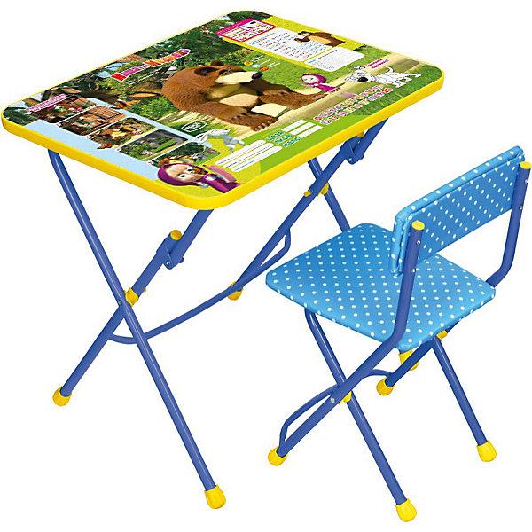 Набор мебели КУ1/6. Позвони мне, Маша и Медведь, НикаДетские столы и стулья<br>Симпатичный комфортный набор детской мебели Позвони мне, Маша и Медведь идеально подойдет для занятий, игр и творчества детей 3 -7 лет. В набор входят стол и стул с металлическим каркасом и пластиковым сиденьем, оформленные по мотивам популярного мультсериала Маша и Медведь. Столешница облицована пленкой с красочными рисунками эпизодов и любимых героев мультфильма. Мебель удобна и безопасна для ребенка, углы стола и стула мягко закруглены. Ножки снабжены наконечниками, предотвращающими скольжение. Стул и стол легко складываются и не занимают много места при хранении.<br><br>Дополнительная информация:<br><br>- В комплекте: складной стол, мягкий складной стул.<br>- Материал: пластик, металл.<br>- Размер стула: высота до сиденья - 32 см., высота со спинкой - 56 см., размер сиденья - 30 х 27 см.<br>- Размер стола: 60 х 45 х 57 см.<br>- Размер упаковки: 61 х 15 х 75 см.<br>- Вес: 8,2 кг.<br> Набор детской мебели Позвони мне, Маша и Медведь, Ника, можно купить в нашем интернет-магазине.<br><br>Ширина мм: 8200<br>Глубина мм: 8200<br>Высота мм: 60<br>Вес г: 8200<br>Возраст от месяцев: 36<br>Возраст до месяцев: 96<br>Пол: Унисекс<br>Возраст: Детский<br>SKU: 4652035