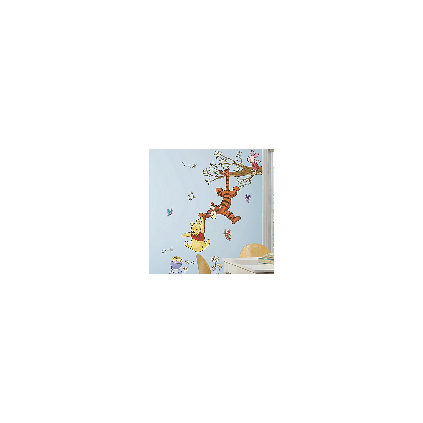 Наклейки для декора Винни-ПухDisney Винни Пух<br>Наклейки для декора Винни-Пух, RoomMates, замечательно подойдут для украшения Вашего интерьера и придадут ему оригинальный и веселый вид. В комплект входят наклейки с изображениями персонажей популярного диснеевского мультсериала: Винни Пуха, Тигры и Пятачка (всего в наборе 39 наклеек). Наклейки просты в применении и подходят для многоразового использования. Освободите выбранный рисунок от защитного слоя и приклейте на стену или любую другую плоскую гладкую поверхность. Стикеры легко отклеиваются и не оставляют липких следов на поверхности. Яркие наклейки с любимыми героями будут радовать Вашего ребенка и создавать атмосферу домашнего уюта.<br><br>Дополнительная информация:<br><br>- В комплекте: 39 наклеек.<br>- Материал: винил.<br>- Размер изображения в собранном виде: 104,8 х 132 см. <br>- Размер упаковки: 48,3 х 12,7 х 2,6 см. <br>- Вес: 0,331 кг. <br><br>Наклейки для декора Винни-Пух, RoomMates, можно купить в нашем интернет-магазине.<br><br>Ширина мм: 292<br>Глубина мм: 127<br>Высота мм: 26<br>Вес г: 141<br>Возраст от месяцев: 36<br>Возраст до месяцев: 144<br>Пол: Унисекс<br>Возраст: Детский<br>SKU: 4652192