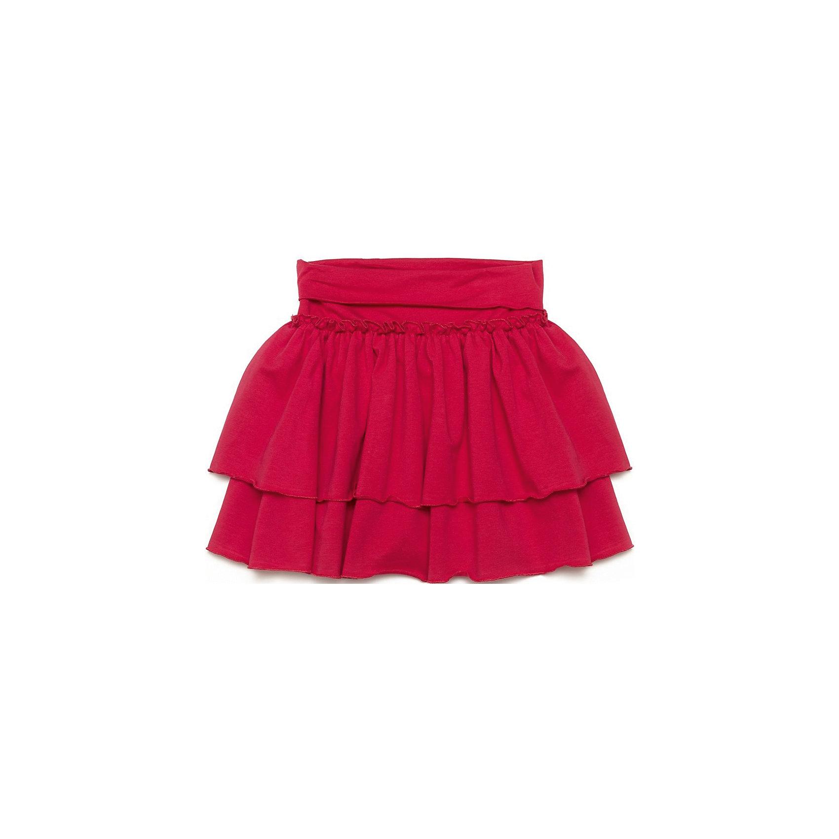 Юбка PlayTodayМягкая хлопковая юбка ярко-малинового цвета. Двойно подол, отрезная кокетка сверху. Пояс наширокой резинке. Однотонная, хорошо смотрится с любыми футболками и блузками. Состав: 95% хлопок, 5% эластан<br><br>Ширина мм: 207<br>Глубина мм: 10<br>Высота мм: 189<br>Вес г: 183<br>Цвет: розовый<br>Возраст от месяцев: 36<br>Возраст до месяцев: 48<br>Пол: Женский<br>Возраст: Детский<br>Размер: 104,128,110,116,122,98<br>SKU: 4652367