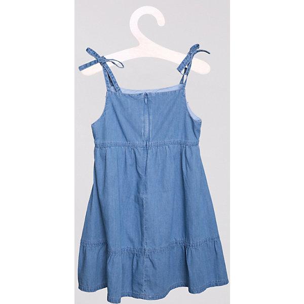 Платье джинсовое PlayTodayДжинсовая одежда<br>Легкий джинсовый сарафан из чистого хлопка. Застегивается на молнию сзади. Сверху украшен бантиком. Завязки регулируются по длине. Состав: 100% хлопок<br><br>Ширина мм: 236<br>Глубина мм: 16<br>Высота мм: 184<br>Вес г: 177<br>Цвет: голубой<br>Возраст от месяцев: 48<br>Возраст до месяцев: 60<br>Пол: Женский<br>Возраст: Детский<br>Размер: 110,128,98,122,116,104<br>SKU: 4652400