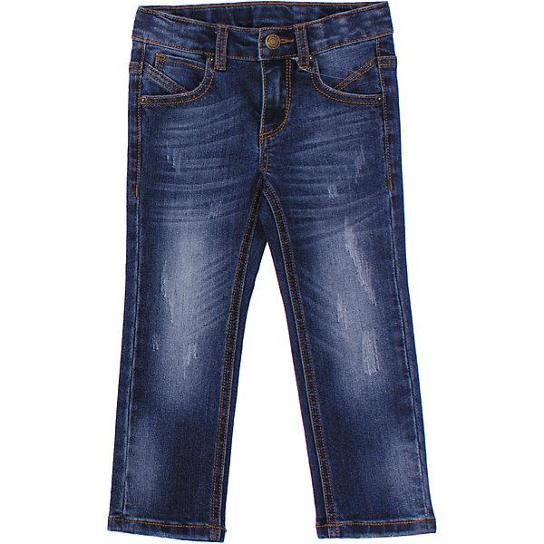 Джинсы для мальчика PlayTodayДжинсовая одежда<br>Стильные джинсы с эффектом потертости. Застегиваются на молнию и металлическую кнопку. Есть петельки для ремня. 4 функциональных кармана. Состав: 68% хлопок, 30% полиэстер, 2% эластан<br><br>Ширина мм: 215<br>Глубина мм: 88<br>Высота мм: 191<br>Вес г: 336<br>Цвет: синий<br>Возраст от месяцев: 24<br>Возраст до месяцев: 36<br>Пол: Мужской<br>Возраст: Детский<br>Размер: 98,110,104,116,122,128<br>SKU: 4652428