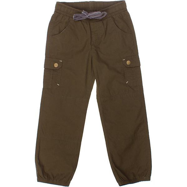 Брюки для мальчика PlayTodayБрюки<br>Легкие хлопковые брюки цвета хаки. Есть целых 6 кармашков для маленьких первооткрывателей. Пояс на резинке, дополнительно регулируется шнурком. Низ штанишек на резинке. Состав: 100% хлопок<br><br>Ширина мм: 215<br>Глубина мм: 88<br>Высота мм: 191<br>Вес г: 336<br>Цвет: хаки<br>Возраст от месяцев: 24<br>Возраст до месяцев: 36<br>Пол: Мужской<br>Возраст: Детский<br>Размер: 98,128,116,104,110,122<br>SKU: 4652435