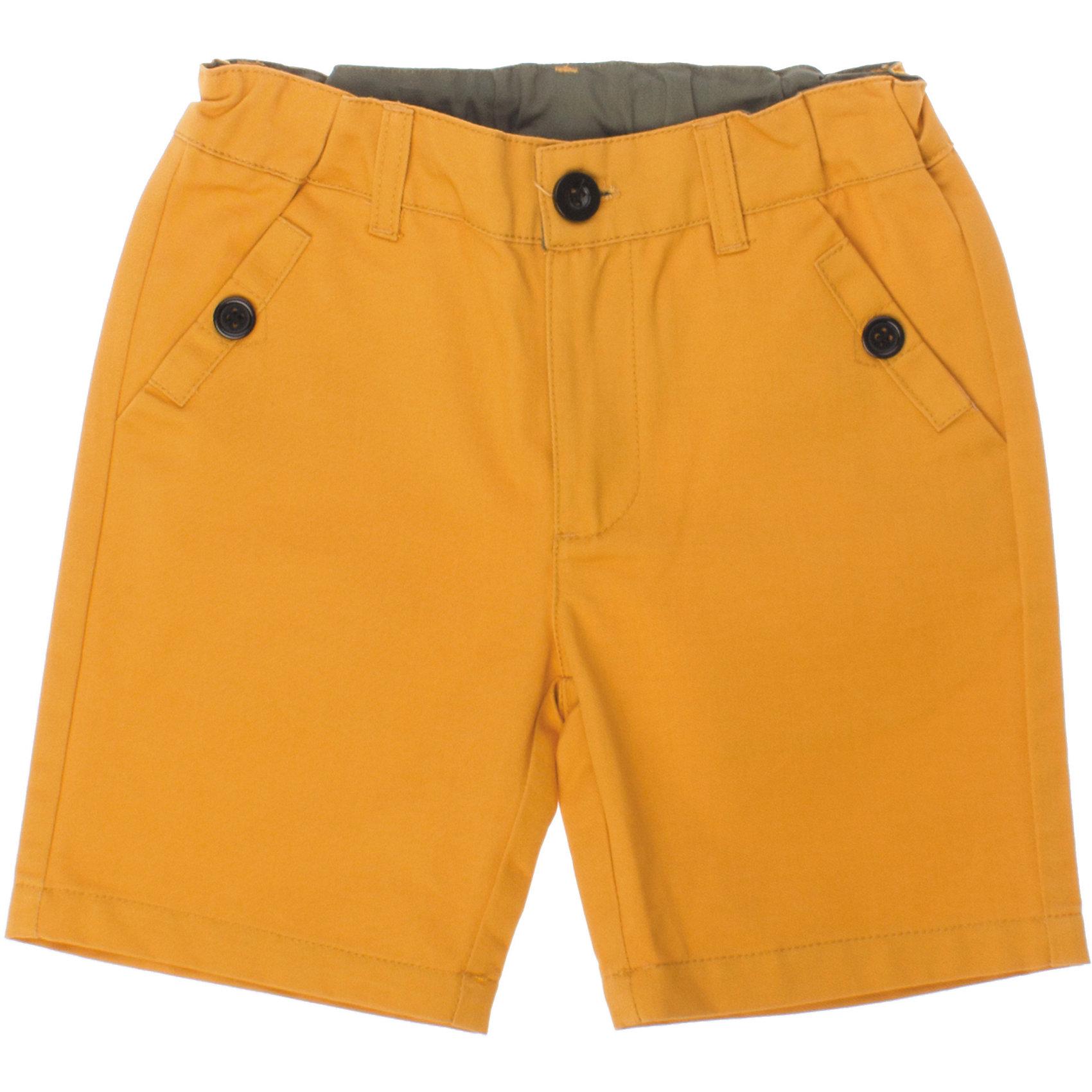 Шорты для мальчика PlayTodayШорты, бриджи, капри<br>Яркие хлопковые шорты поднимут настроение маленькому первооткрывателю. Есть два глубоких кармана. Застегиваются на молнию и металлическую пуговку. Сзади - декоративные кармашки. Состав: 100% хлопок<br><br>Ширина мм: 191<br>Глубина мм: 10<br>Высота мм: 175<br>Вес г: 273<br>Цвет: желтый<br>Возраст от месяцев: 84<br>Возраст до месяцев: 96<br>Пол: Мужской<br>Возраст: Детский<br>Размер: 128,122,116,110,104,98<br>SKU: 4652442