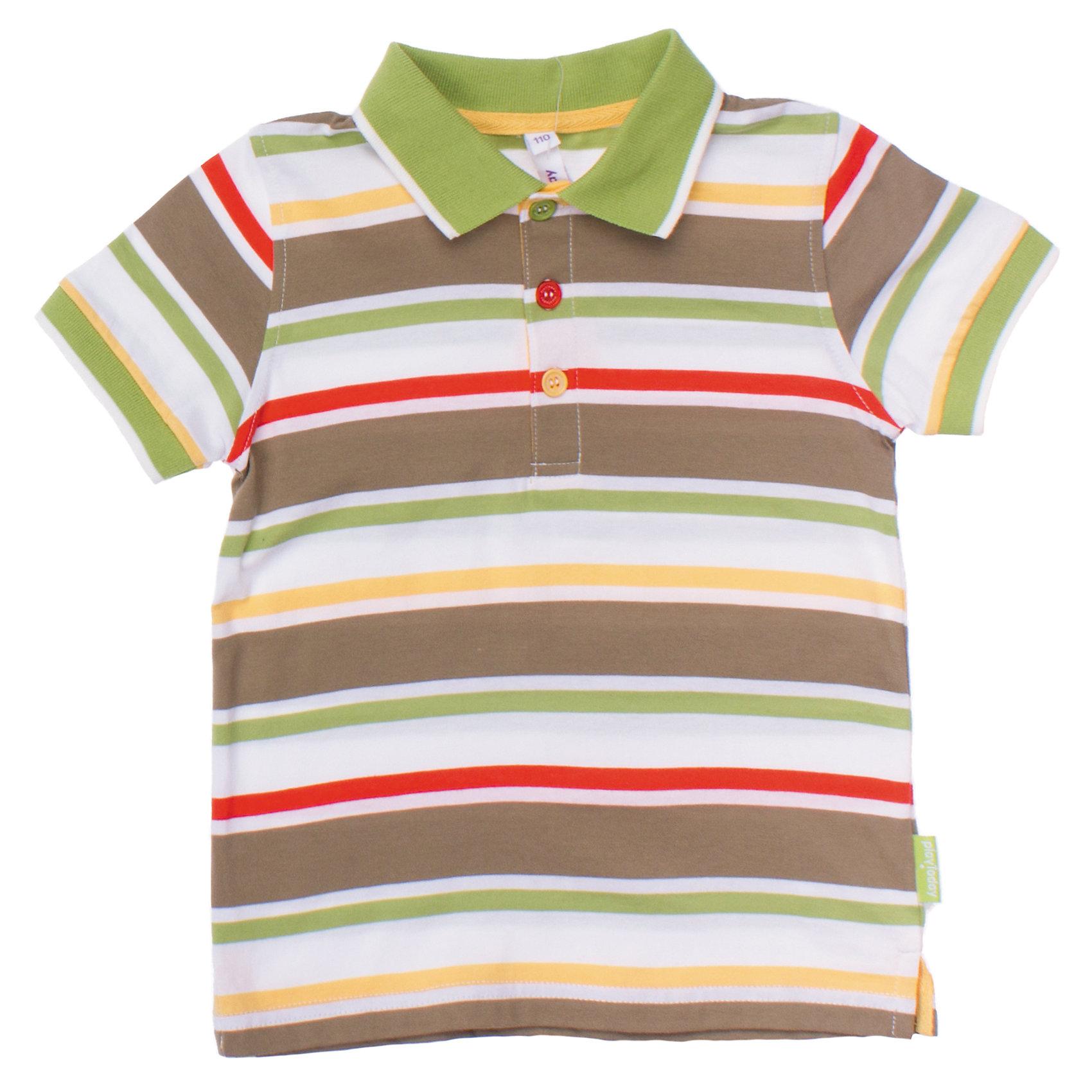 Футболка для мальчика PlayTodayМягкая футболка-поло в полоску. Воротник застегивается на три цветные пуговки. Рукава на резинке. Состав: 100% хлопок<br><br>Ширина мм: 199<br>Глубина мм: 10<br>Высота мм: 161<br>Вес г: 151<br>Цвет: белый<br>Возраст от месяцев: 60<br>Возраст до месяцев: 72<br>Пол: Мужской<br>Возраст: Детский<br>Размер: 116,104,122,98,128,110<br>SKU: 4652463