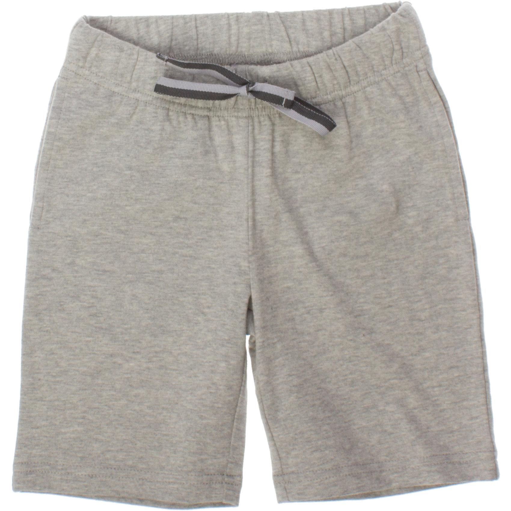 Шорты для мальчика PlayTodayШорты, бриджи, капри<br>Легкие хлопковые шорты цвета серый меланж. Пояс на мягкой резинке, дополнительно регулируется тесьмой. Есть два кармашка. Состав: 95% хлопок, 5% эластан<br><br>Ширина мм: 191<br>Глубина мм: 10<br>Высота мм: 175<br>Вес г: 273<br>Цвет: серый<br>Возраст от месяцев: 48<br>Возраст до месяцев: 60<br>Пол: Мужской<br>Возраст: Детский<br>Размер: 110,122,104,98,128,116<br>SKU: 4652547