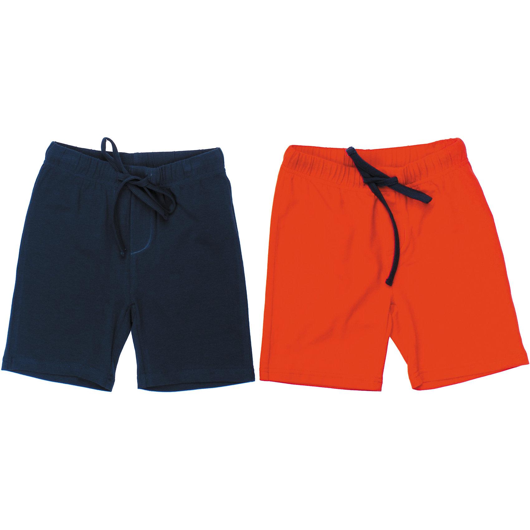 Шорты (2 шт.) для мальчика PlayTodayКомплект из двух пар хлопковых шорт. Цвета - темно-синий и оранжевый. Однотонные, хорошо смотрятся с любыми футболками. Пояс на мягкой резинке, дополнительно регулируется шнурком. Состав: 95% хлопок, 5% эластан<br><br>Ширина мм: 191<br>Глубина мм: 10<br>Высота мм: 175<br>Вес г: 273<br>Цвет: синий<br>Возраст от месяцев: 24<br>Возраст до месяцев: 36<br>Пол: Мужской<br>Возраст: Детский<br>Размер: 98,110,104,116,122,128<br>SKU: 4652554