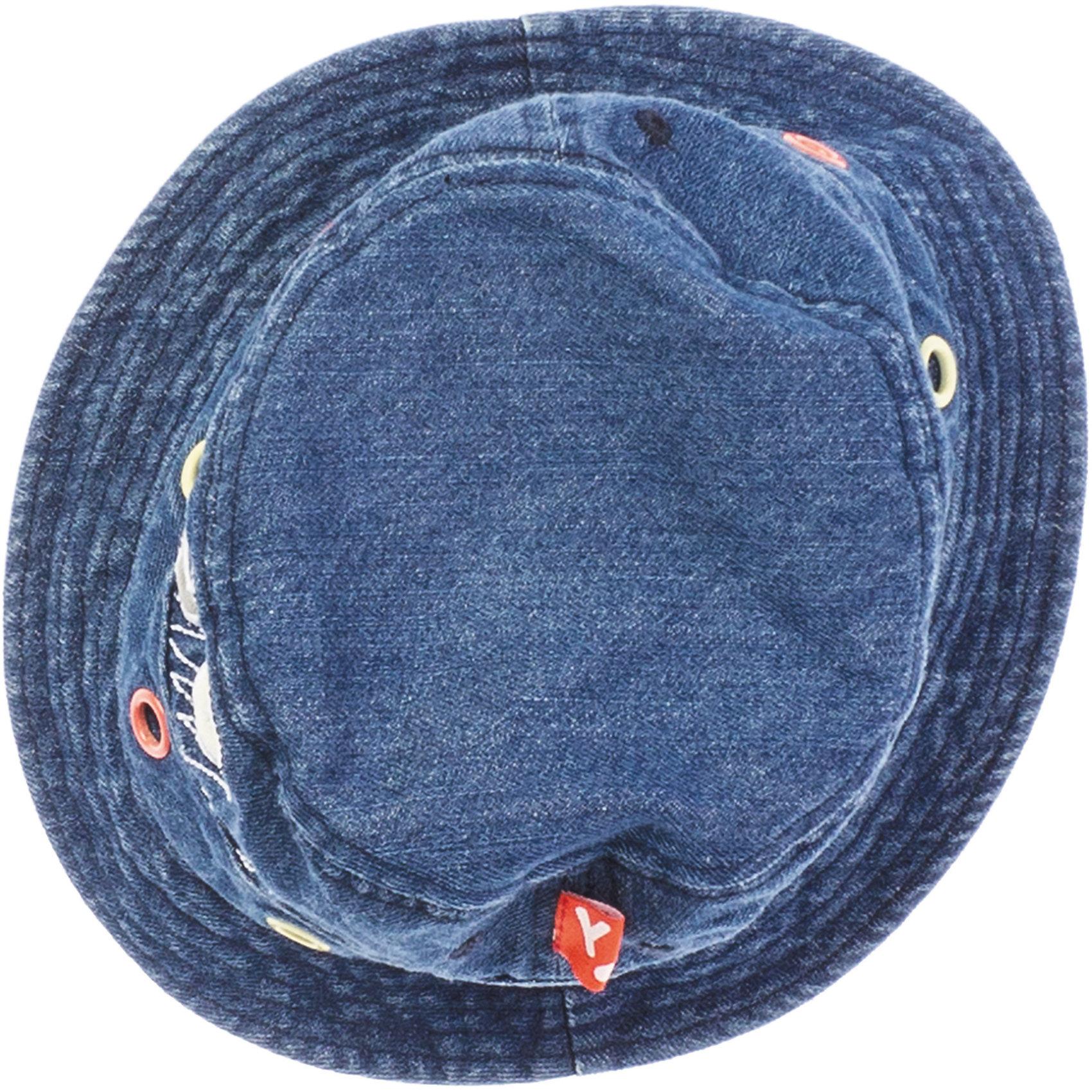 Панама для мальчика PlayTodayМягкая джинсовая панамка надежно защитит от жаркого солнца. Украшена яркой аппликацией. Состав: 100% хлопок<br><br>Ширина мм: 89<br>Глубина мм: 117<br>Высота мм: 44<br>Вес г: 155<br>Цвет: синий<br>Возраст от месяцев: 24<br>Возраст до месяцев: 36<br>Пол: Мужской<br>Возраст: Детский<br>Размер: 50,54,52<br>SKU: 4652583