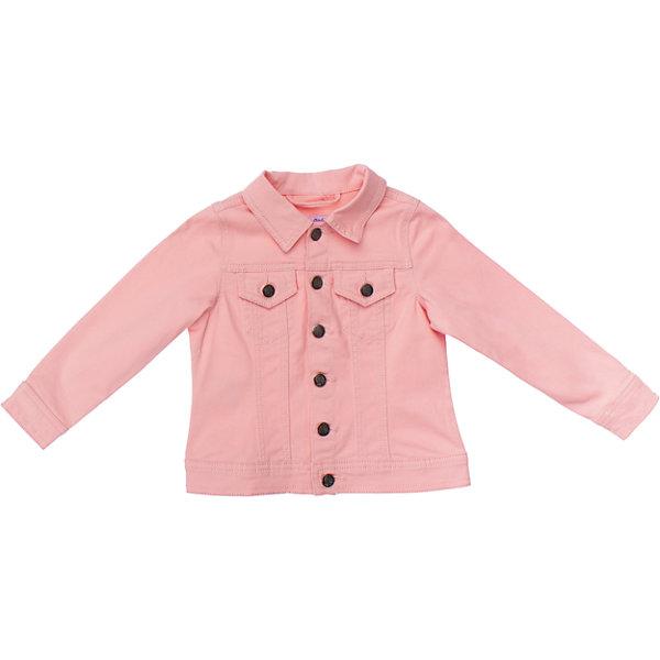 Куртка джинсовая для девочки PlayTodayДжинсовая одежда<br>Нежная джинсовая куртка клубнично-розового цвета. Застегивается на металлические пуговки с ягодками. На груди два кармашка. Состав: 98% хлопок, 2% эластан<br><br>Ширина мм: 356<br>Глубина мм: 10<br>Высота мм: 245<br>Вес г: 519<br>Цвет: розовый<br>Возраст от месяцев: 48<br>Возраст до месяцев: 60<br>Пол: Женский<br>Возраст: Детский<br>Размер: 110,98,116,122,128,104<br>SKU: 4652595