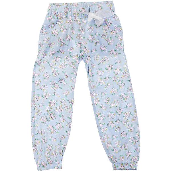 Брюки для девочки PlayTodayБрюки<br>Легкие и воздушные голубые брюки из вискозы. Украшены нежными розовыми цветочками и ягодками. Низ штанишек и пояс нарезинке, дополнительно регулируется тесьмой. Состав: 100% вискоза<br><br>Ширина мм: 215<br>Глубина мм: 88<br>Высота мм: 191<br>Вес г: 336<br>Цвет: голубой<br>Возраст от месяцев: 60<br>Возраст до месяцев: 72<br>Пол: Женский<br>Возраст: Детский<br>Размер: 116,128,122,104,110,98<br>SKU: 4652623
