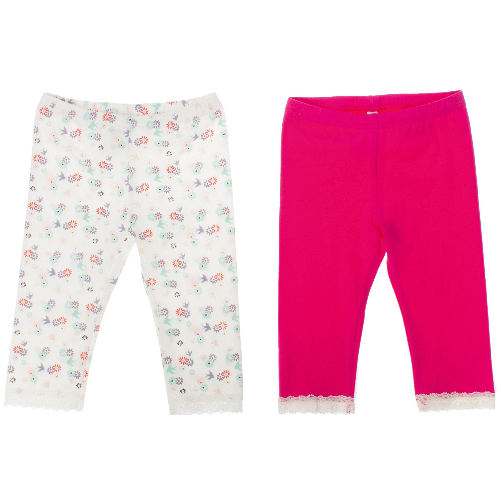 Леггинсы (2 шт.) для девочки PlayTodayЛеггинсы<br>Комплект из двух пар леггинсов. Цвета - розовый и белый с цветочно-ягодным принтом. Низ штанишек украшен кружевами. Пояс на мягкой резинке. Состав: 95% хлопок, 5% эластан<br><br>Ширина мм: 123<br>Глубина мм: 10<br>Высота мм: 149<br>Вес г: 209<br>Цвет: белый<br>Возраст от месяцев: 60<br>Возраст до месяцев: 72<br>Пол: Женский<br>Возраст: Детский<br>Размер: 116,110,128,104,98,122<br>SKU: 4652728