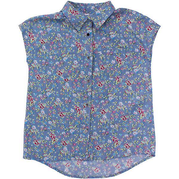 Блузка для девочки ScoolБлузки и рубашки<br>Мягкая джинсовая рубашка с легким цветочным узором. Застегивается на белые пуговки. На груди два кармашка Состав: 100% хлопок<br><br>Ширина мм: 186<br>Глубина мм: 87<br>Высота мм: 198<br>Вес г: 197<br>Цвет: голубой<br>Возраст от месяцев: 96<br>Возраст до месяцев: 108<br>Пол: Женский<br>Возраст: Детский<br>Размер: 134,140,146,152,158,164<br>SKU: 4652838