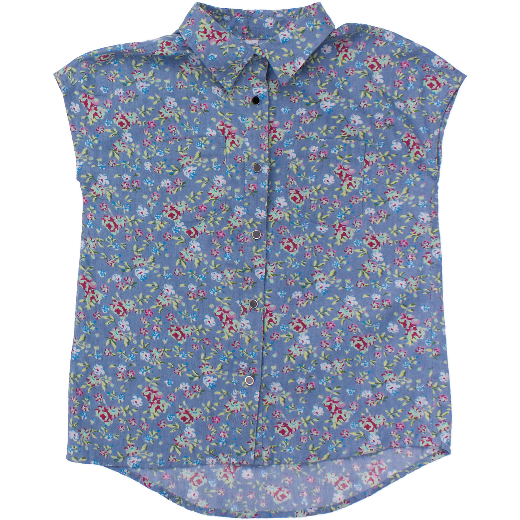 Блузка для девочки ScoolБлузки и рубашки<br>Мягкая джинсовая рубашка с легким цветочным узором. Застегивается на белые пуговки. На груди два кармашка Состав: 100% хлопок<br><br>Ширина мм: 186<br>Глубина мм: 87<br>Высота мм: 198<br>Вес г: 197<br>Цвет: голубой<br>Возраст от месяцев: 108<br>Возраст до месяцев: 120<br>Пол: Женский<br>Возраст: Детский<br>Размер: 140,134,164,158,152,146<br>SKU: 4652838