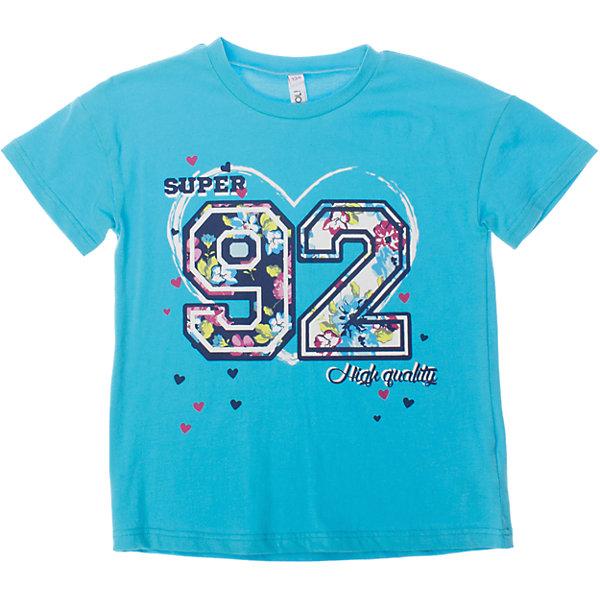Футболка для девочки ScoolФутболки, поло и топы<br>Мягкая укороченная футболка для жаркого лета. Украшена резиновым принтом с цветочным узором. Состав: 95% хлопок, 5% эластан<br>Ширина мм: 199; Глубина мм: 10; Высота мм: 161; Вес г: 151; Цвет: голубой; Возраст от месяцев: 108; Возраст до месяцев: 120; Пол: Женский; Возраст: Детский; Размер: 140,146,158,164,152,134; SKU: 4652880;