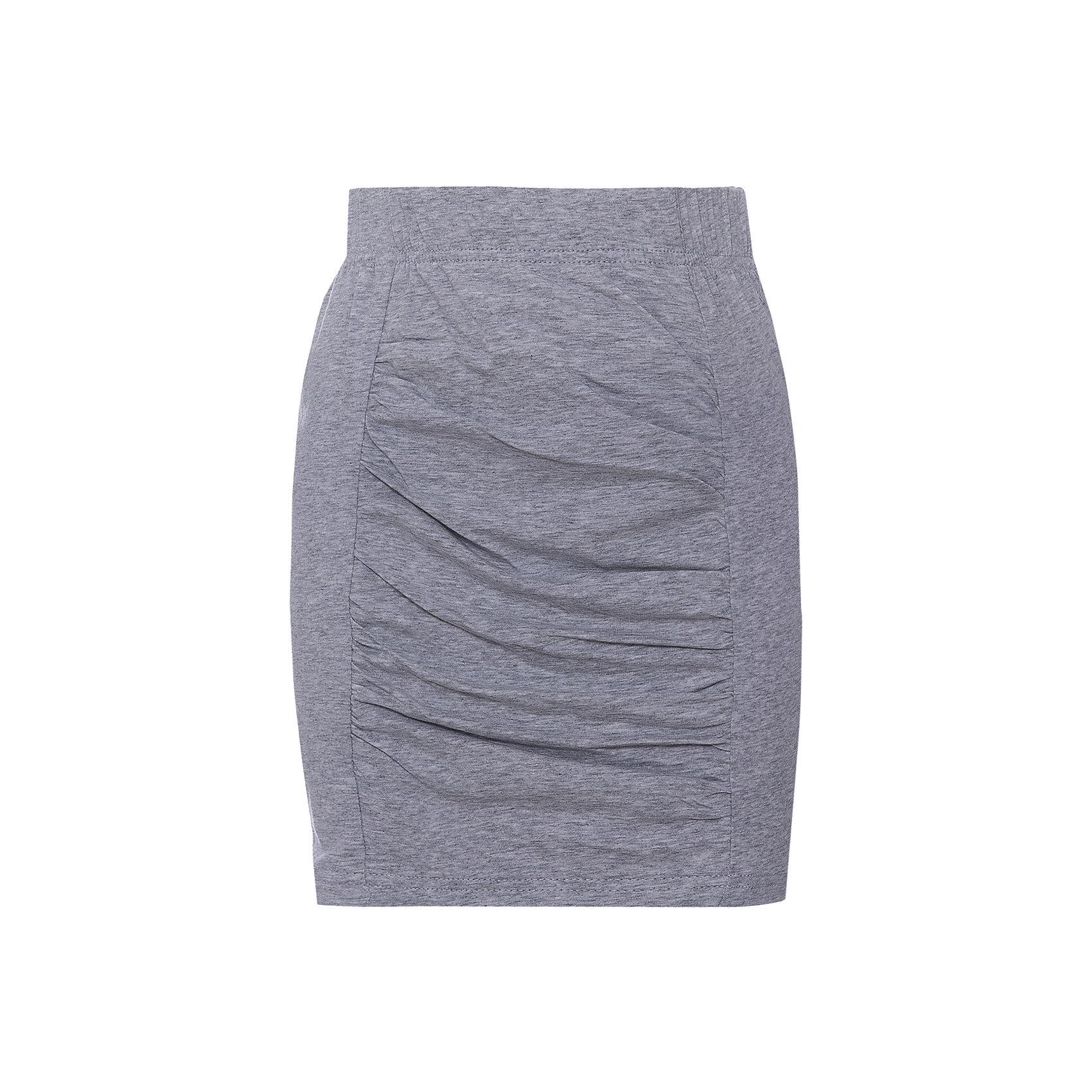 Юбка ScoolЮбки<br>Мягкая хлопоквая юбка цвета серый меланж. Прилегающий силуэт, по центру стильная вставка с драпировкой. Цельнокройный пояс. Юбка хорошо сочетается с легкими туниками. Состав: 95% хлопок, 5% эластан<br><br>Ширина мм: 207<br>Глубина мм: 10<br>Высота мм: 189<br>Вес г: 183<br>Цвет: серый<br>Возраст от месяцев: 96<br>Возраст до месяцев: 108<br>Пол: Женский<br>Возраст: Детский<br>Размер: 134,140,146,152,158,164<br>SKU: 4652894